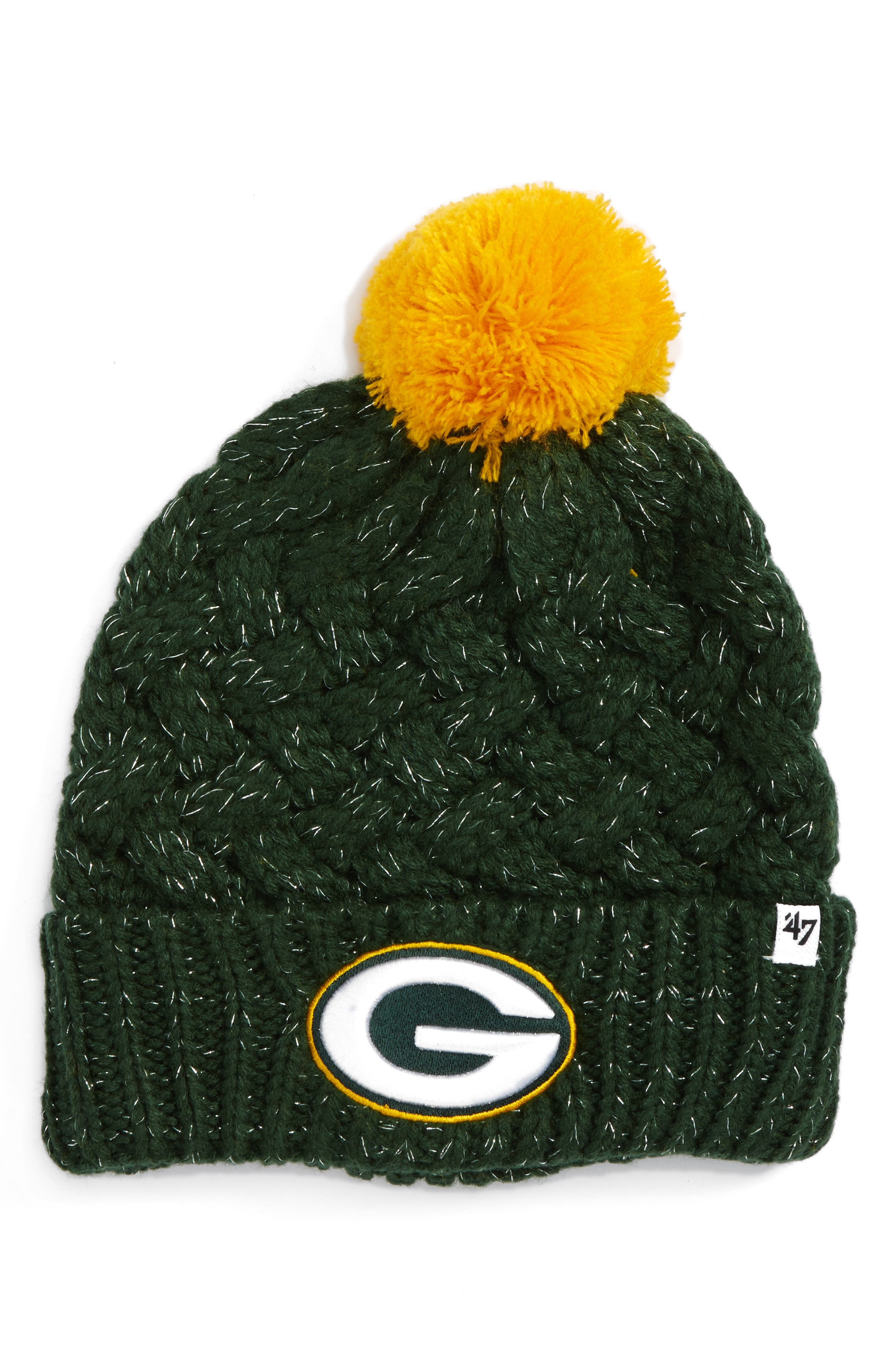 Alternate Image 1 Selected - '47 Fiona Green Bay Packers Pom Beanie