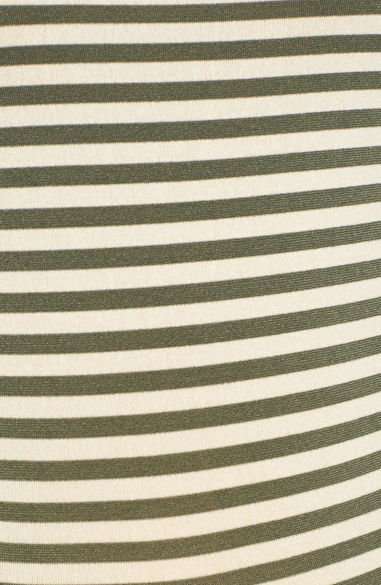 Alternate Image 5  - Tees by Tina Micro Stripe Maternity Dress