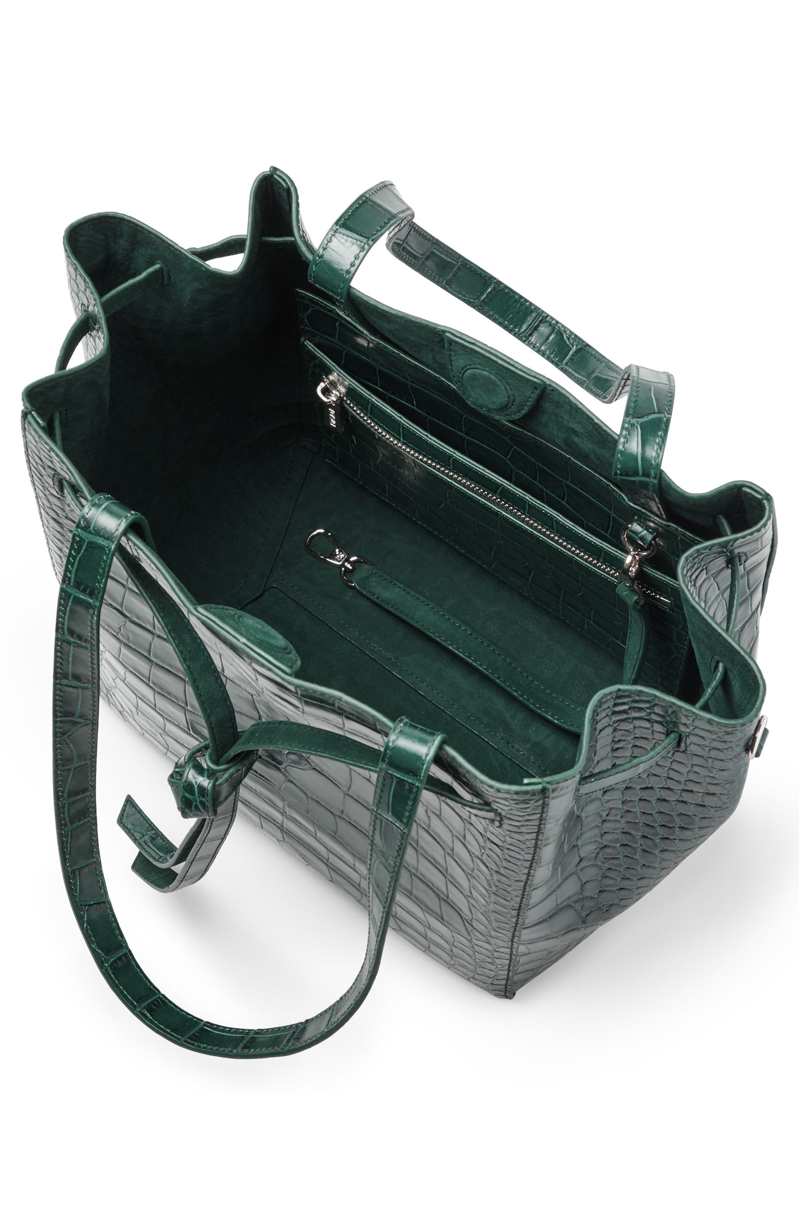 Alternate Image 4  - Pop & Suki Croc Embossed Carryall Tote (Nordstrom Exclusive)