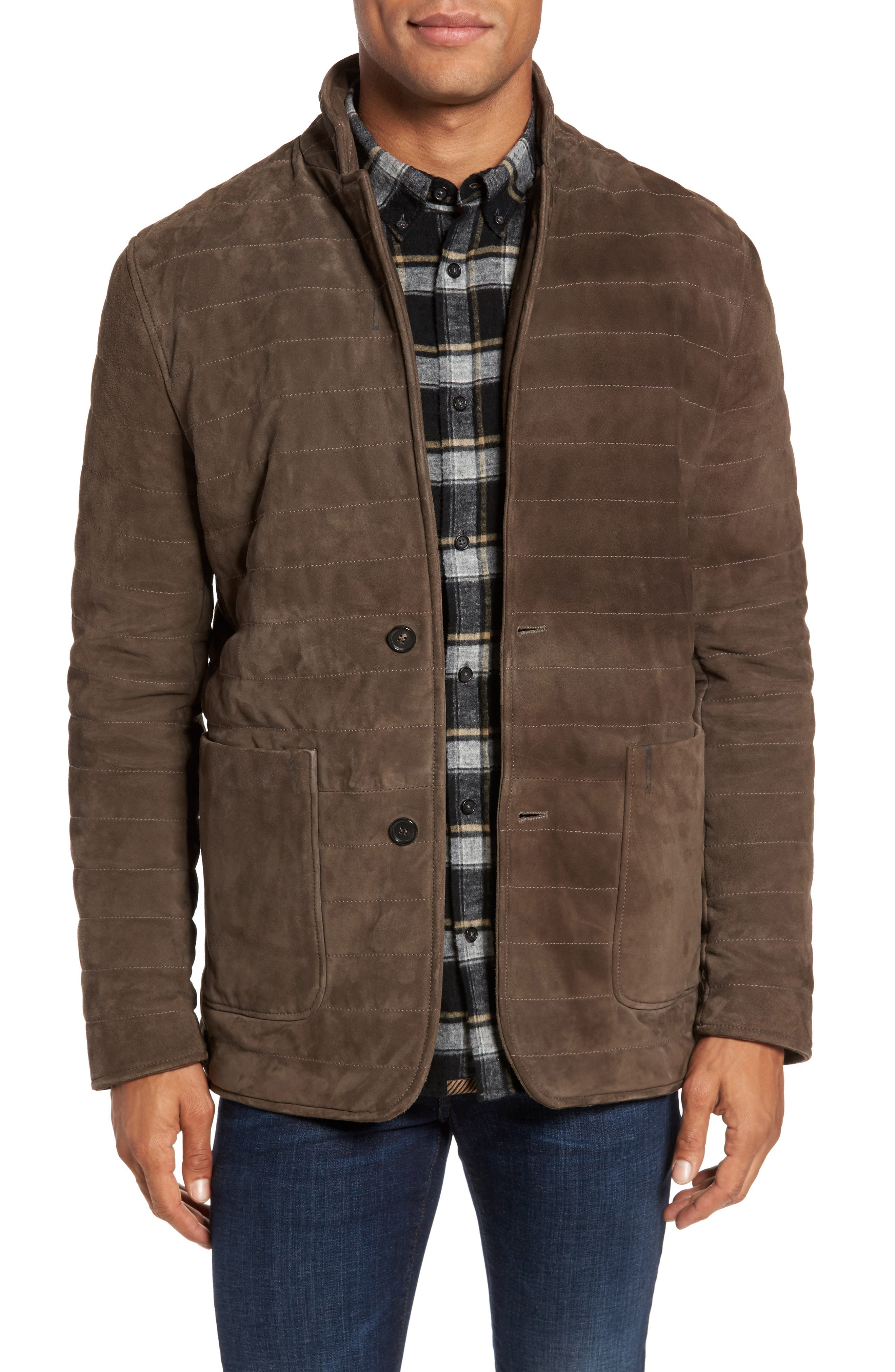Billy Reid Quilted Suede Jacket