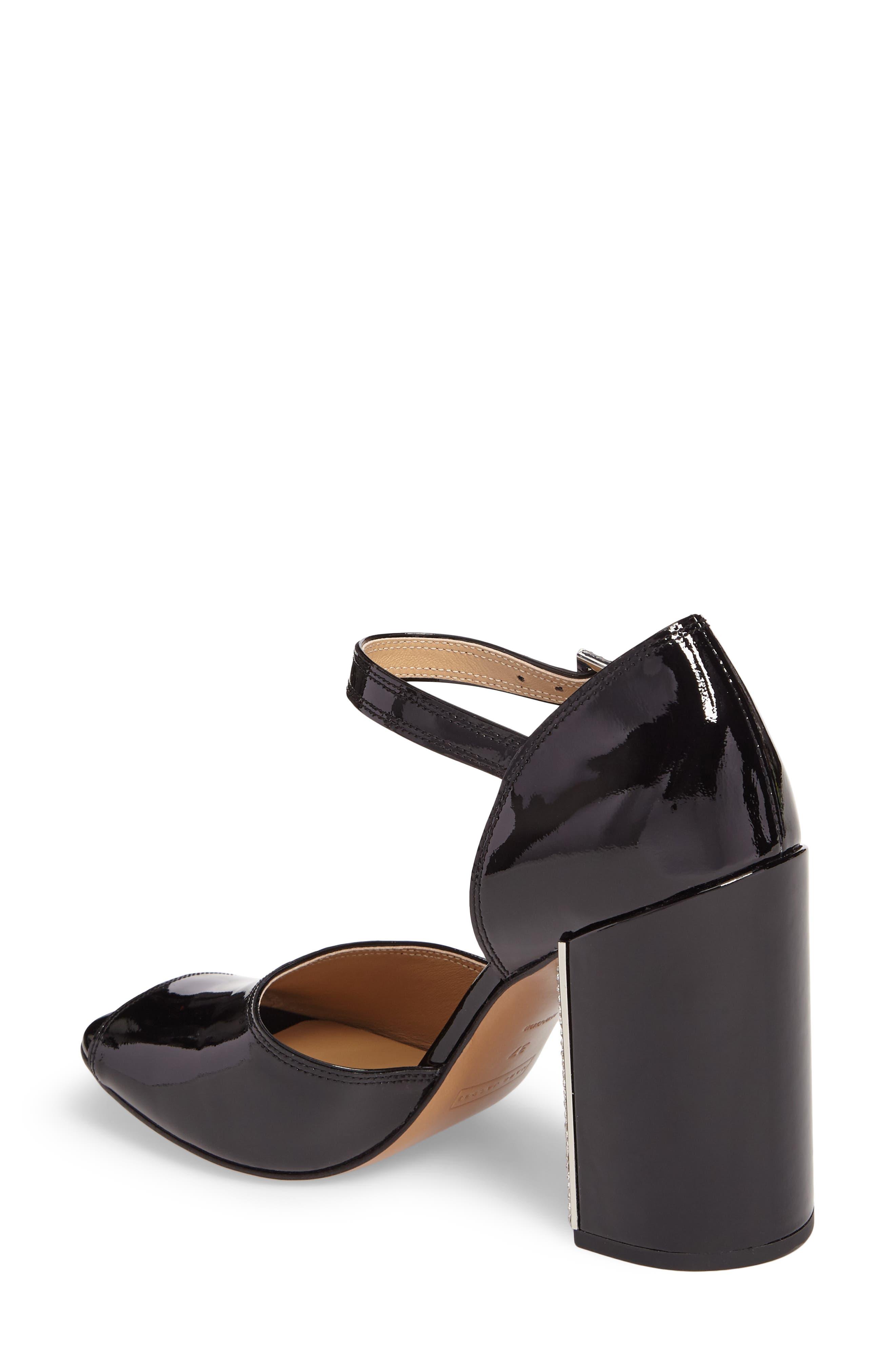 Kasia Embellished Ankle Strap Sandal,                             Alternate thumbnail 2, color,                             Black