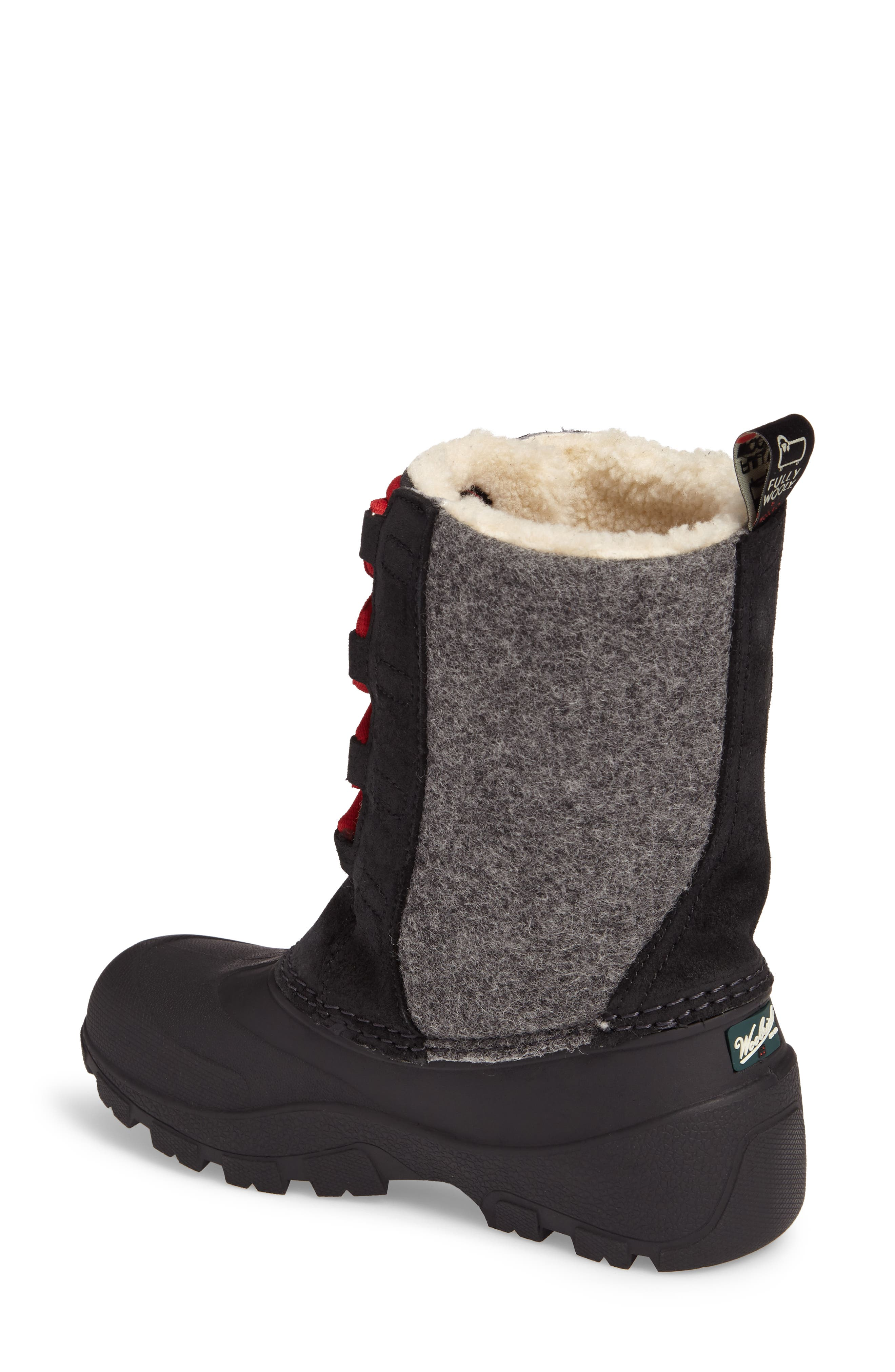 Fully Wooly Tundracat Waterproof Insulated Winter Boot,                             Alternate thumbnail 2, color,                             Black Leather