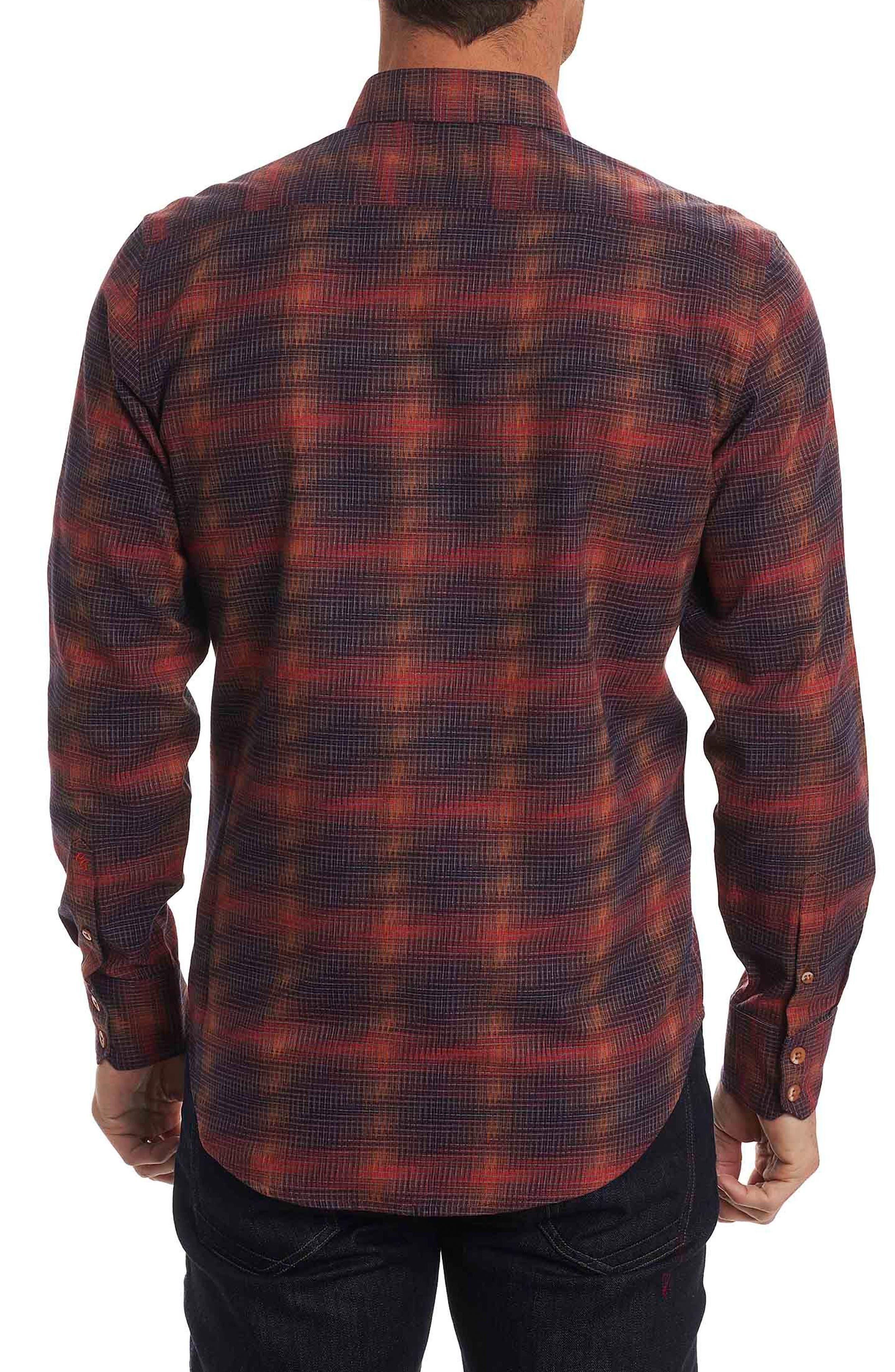 Lumberman Tailored Fit Sport Shirt,                             Alternate thumbnail 2, color,                             Red