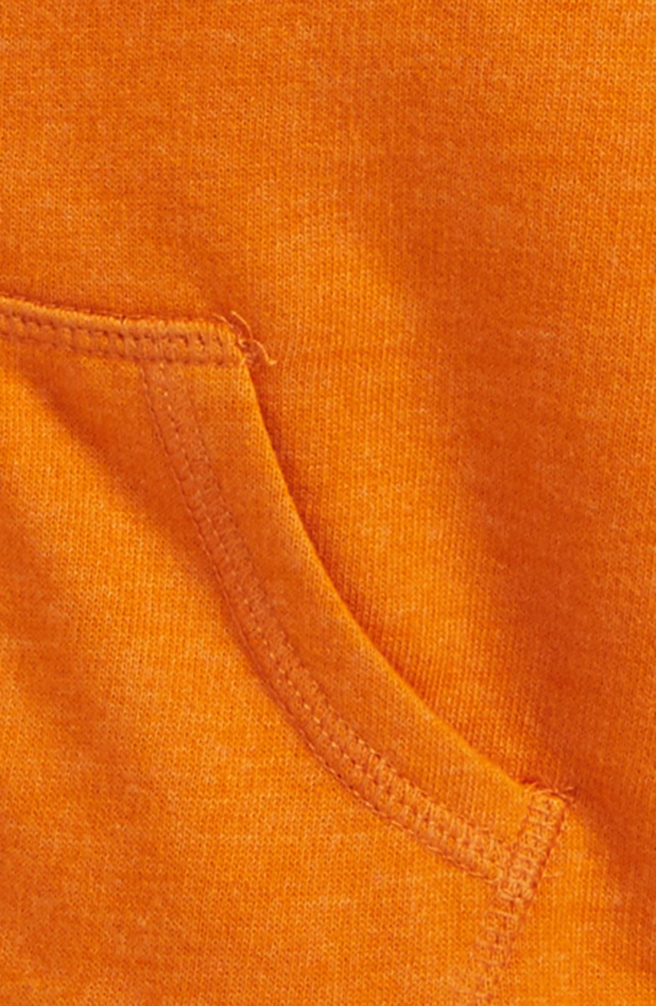 Fleece Lined Hoodie,                             Alternate thumbnail 2, color,                             Orange Hawaii