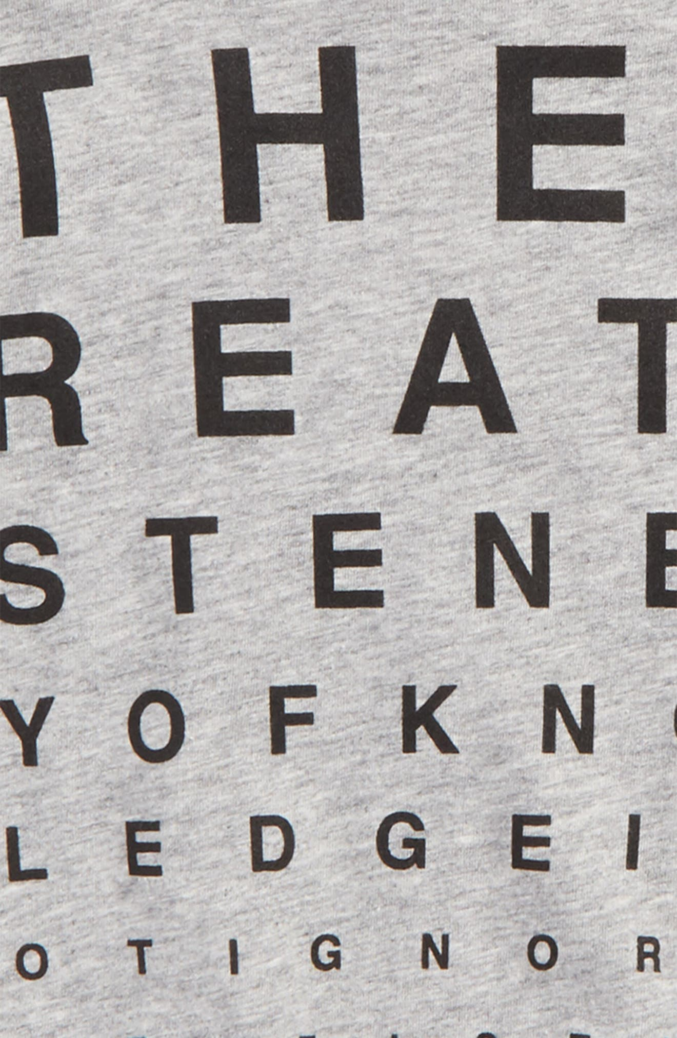Vision Test Graphic T-Shirt,                             Alternate thumbnail 2, color,                             Heather Grey