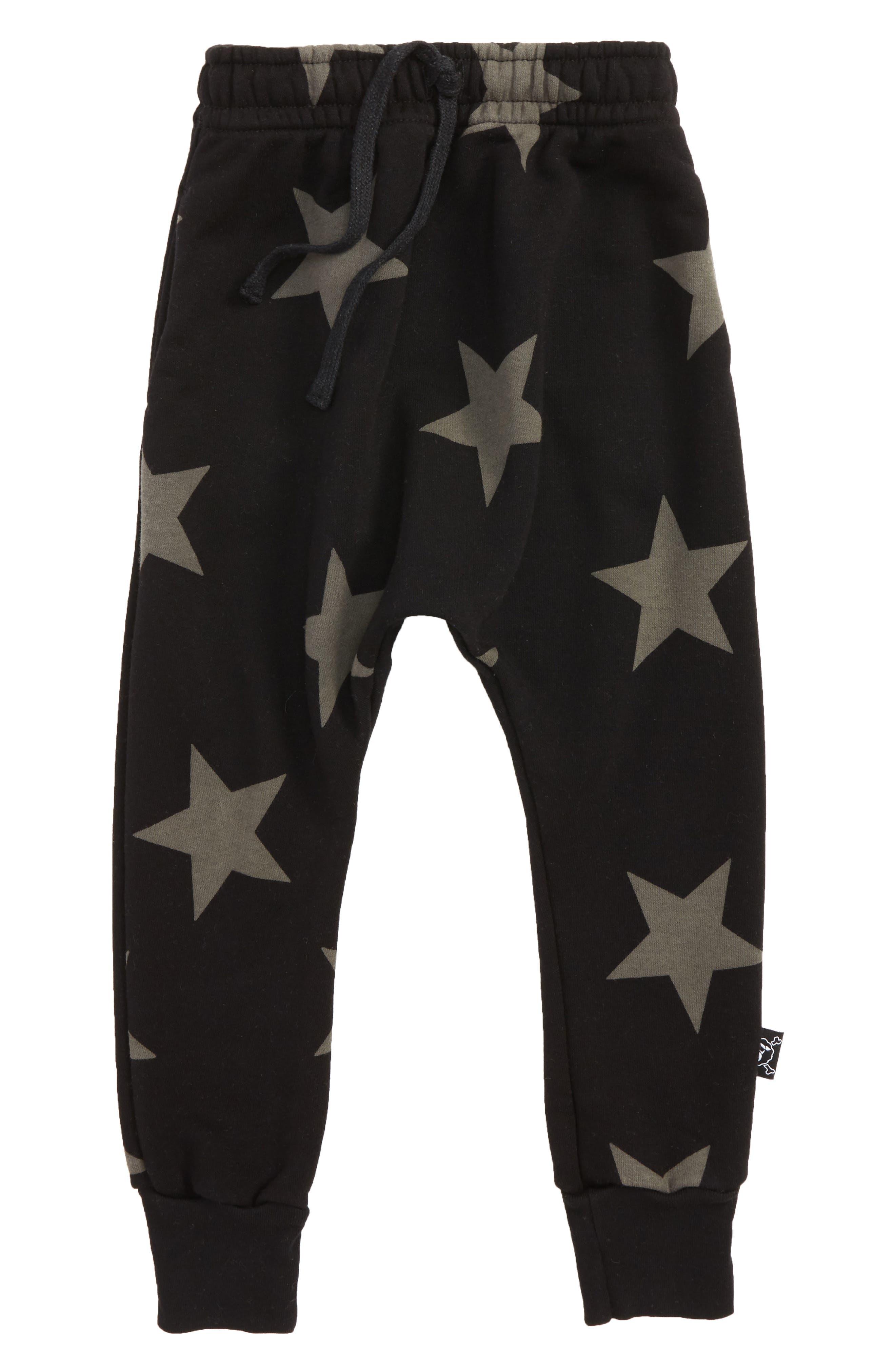 NUNUNU Star Print Jogger Pants (Toddler Boys & Little Boys)