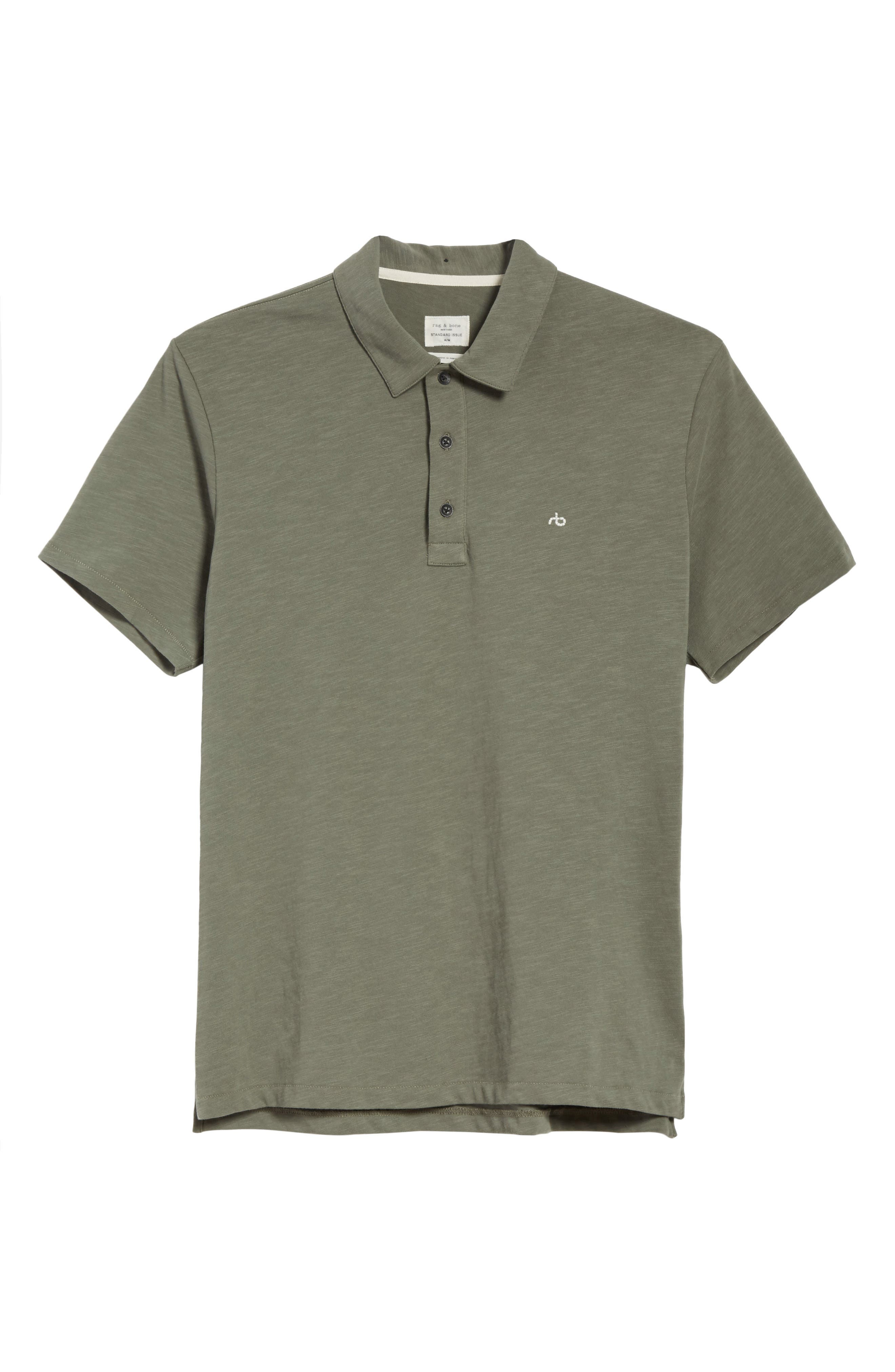 Alternate Image 6  - rag & bone Standard Issue Slub Jersey Polo