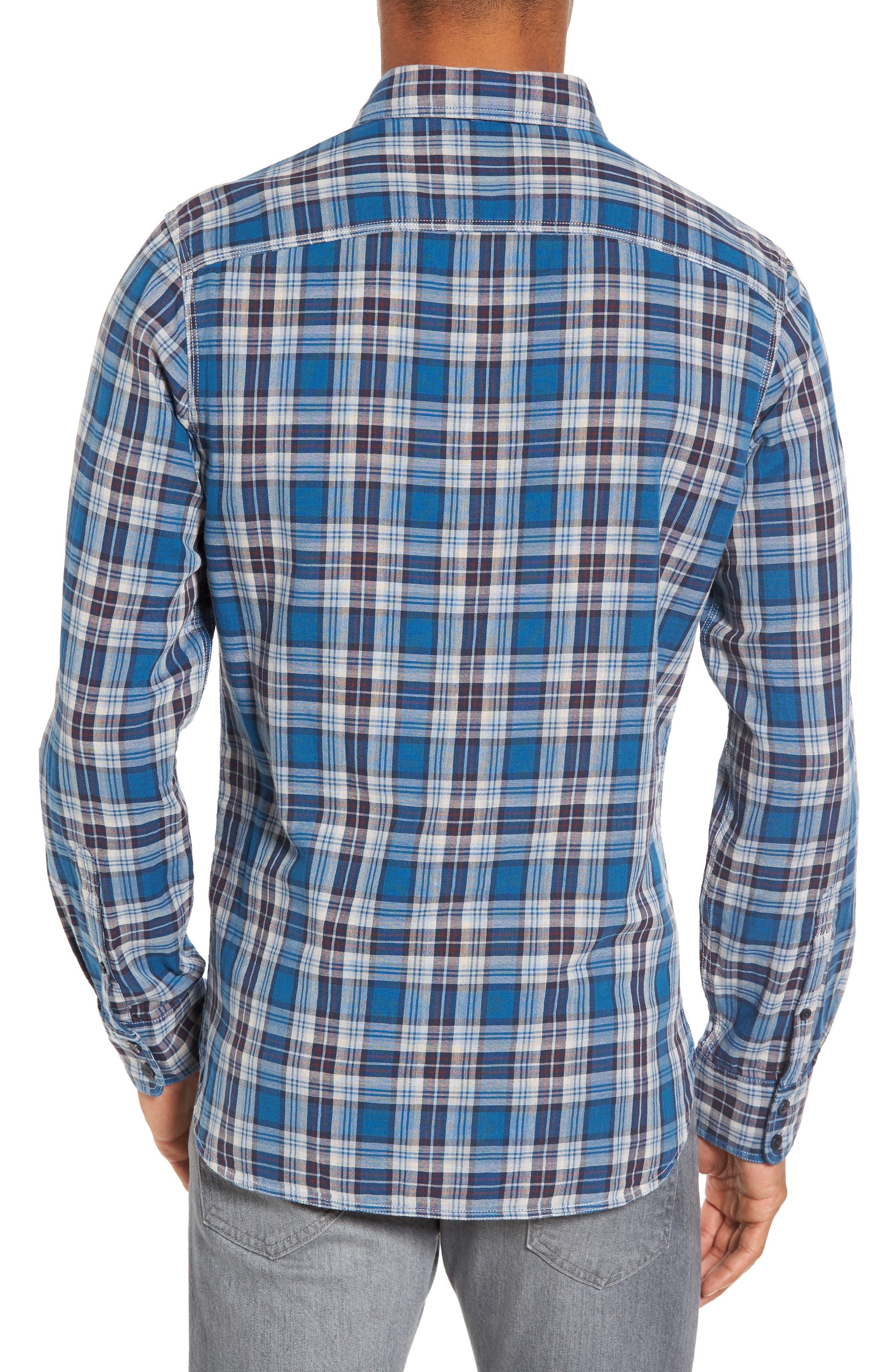 Alternate Image 2  - Nordstrom Men's Shop Workwear Duofold Plaid Sport Shirt