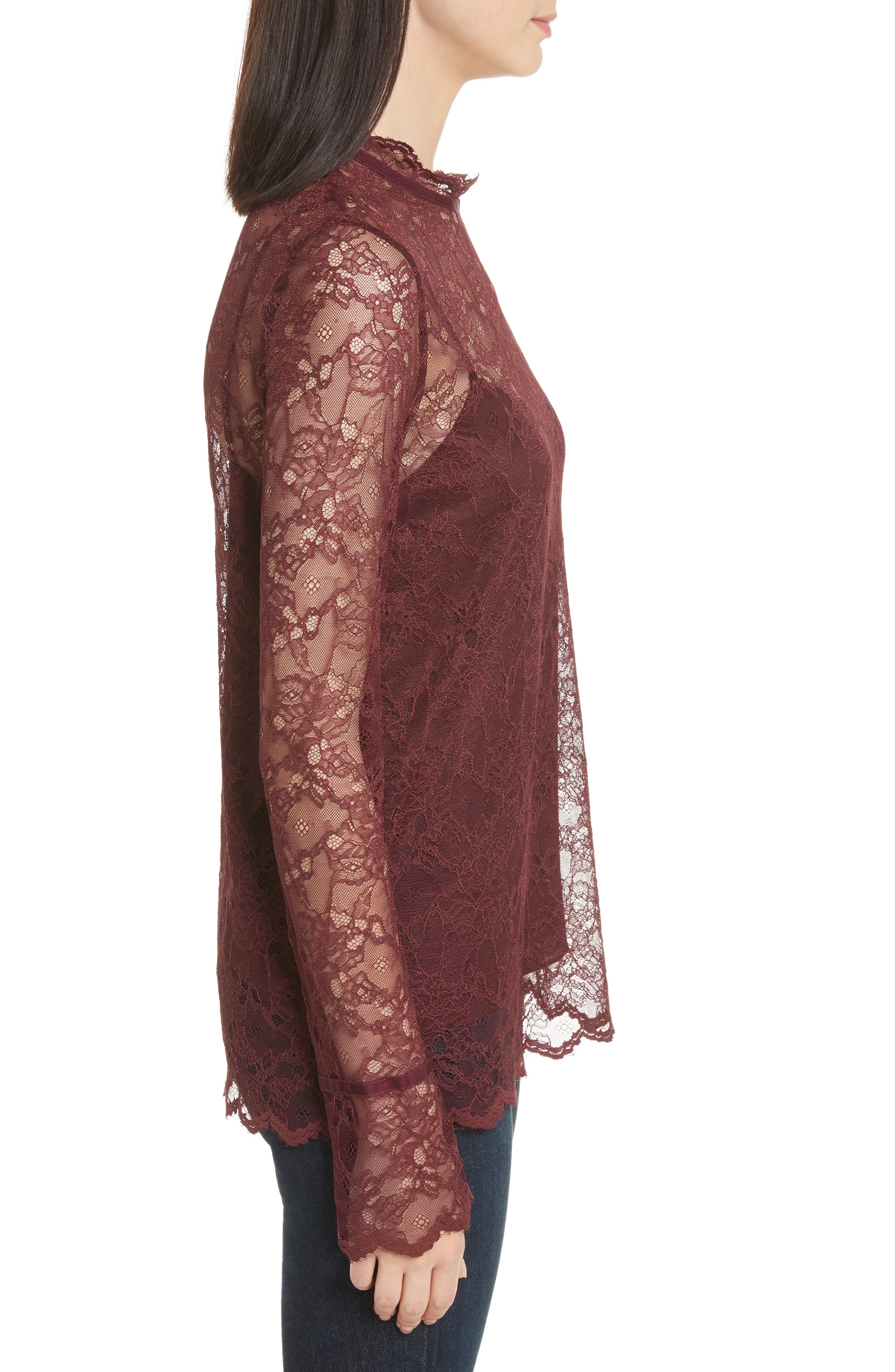 Alternate Image 3  - Theory Lace Top with Tank