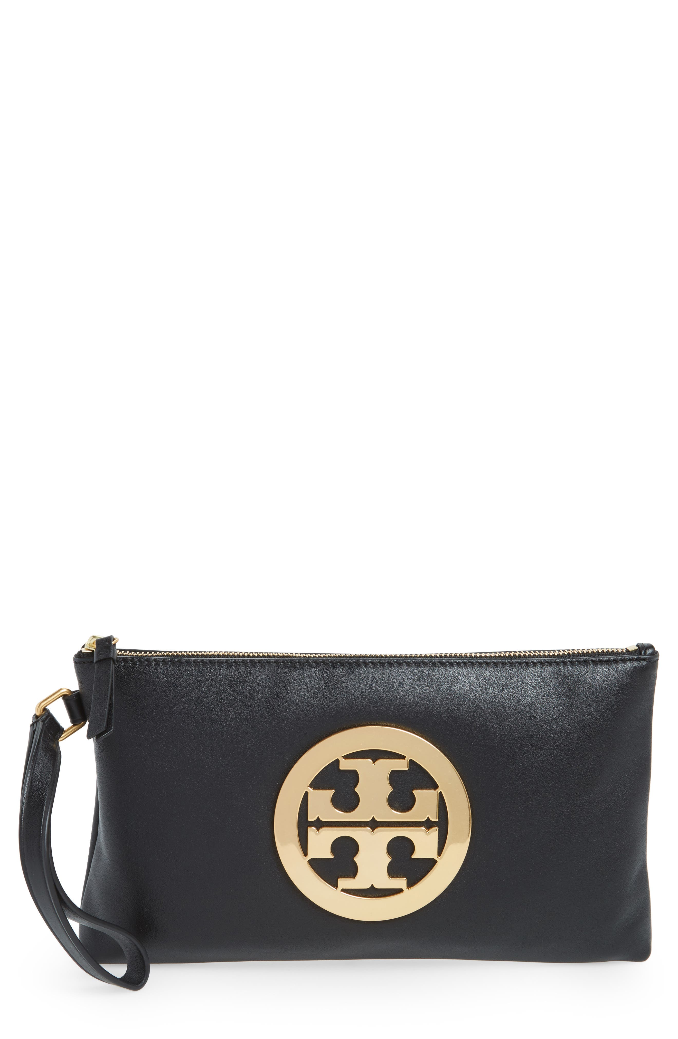 Alternate Image 1 Selected - Tory Burch Charlie Suede Wristlet Clutch