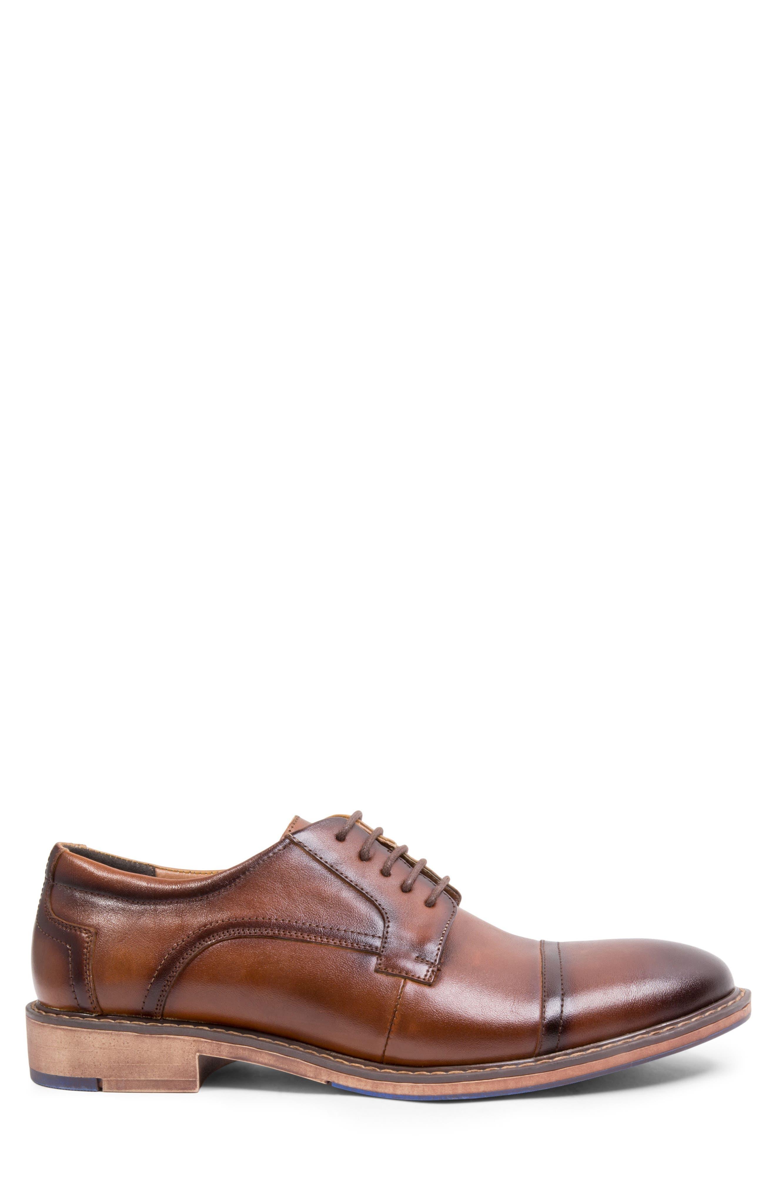 Averie Cap Toe Derby,                             Alternate thumbnail 3, color,                             Tan Leather
