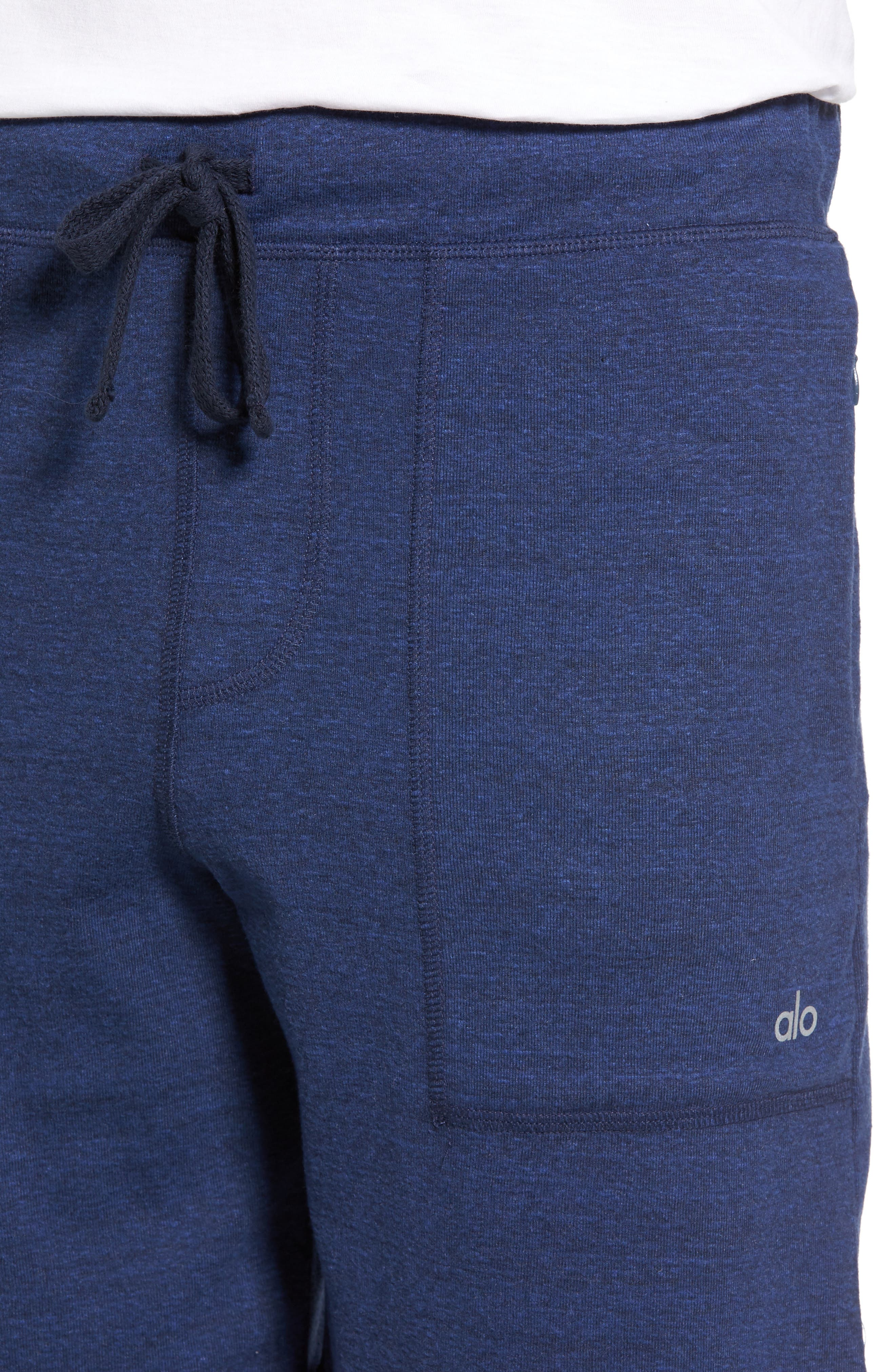 Revival Relaxed Knit Shorts,                             Alternate thumbnail 3, color,                             Navy Triblend