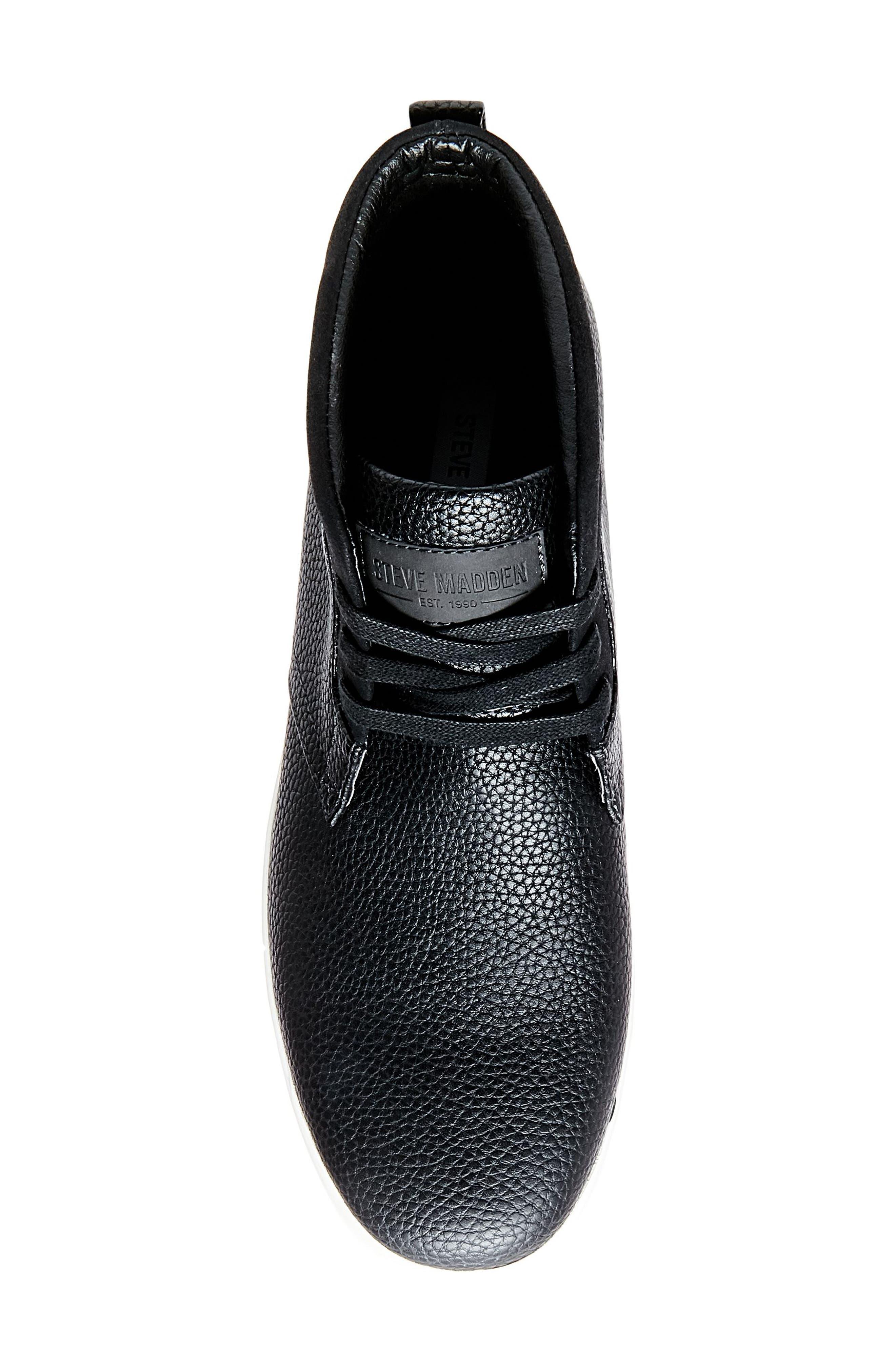 Fenway Sneaker,                             Alternate thumbnail 4, color,                             Black Leather