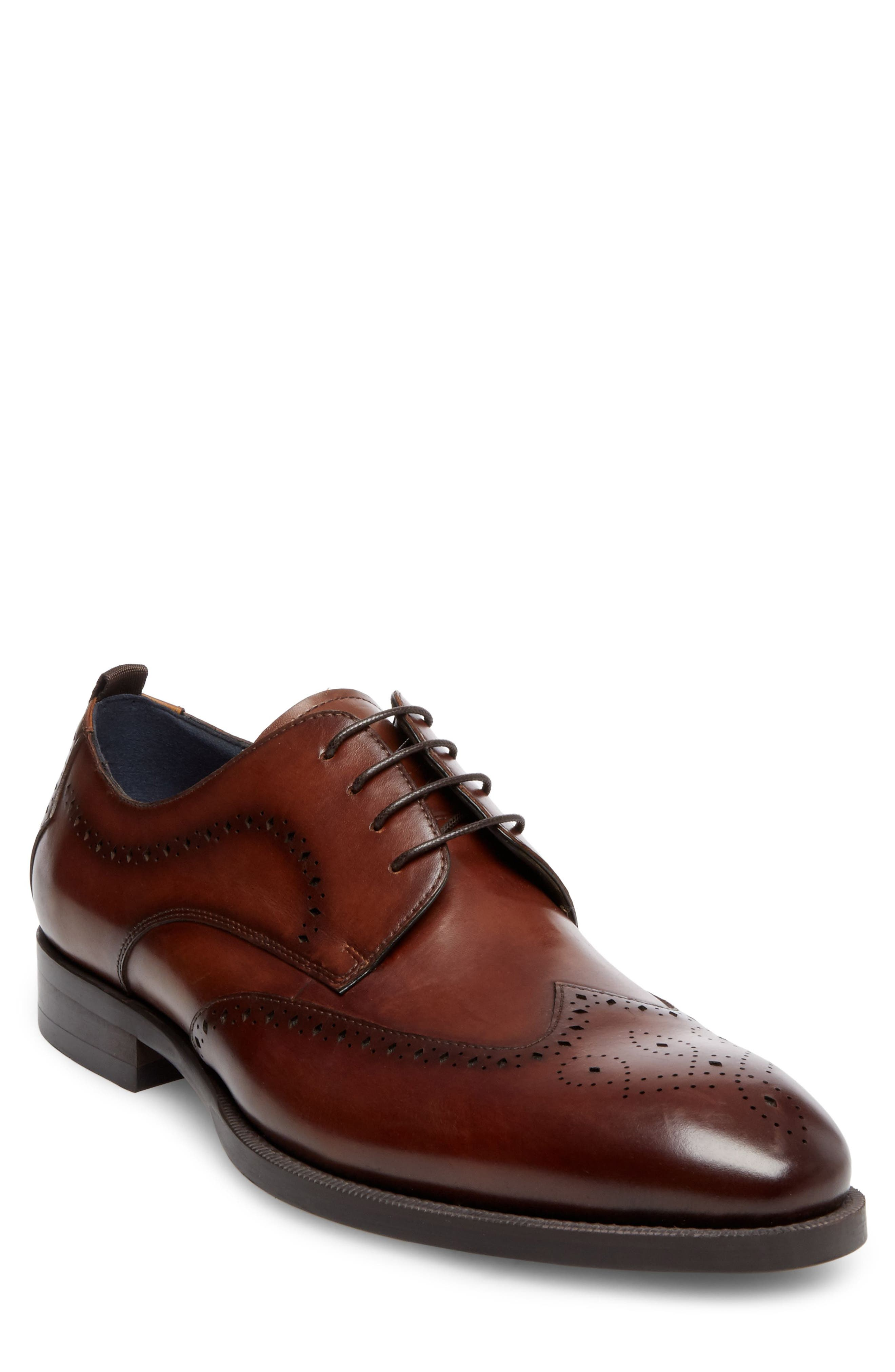 Candyd Wingtip,                             Main thumbnail 1, color,                             Brown Leather