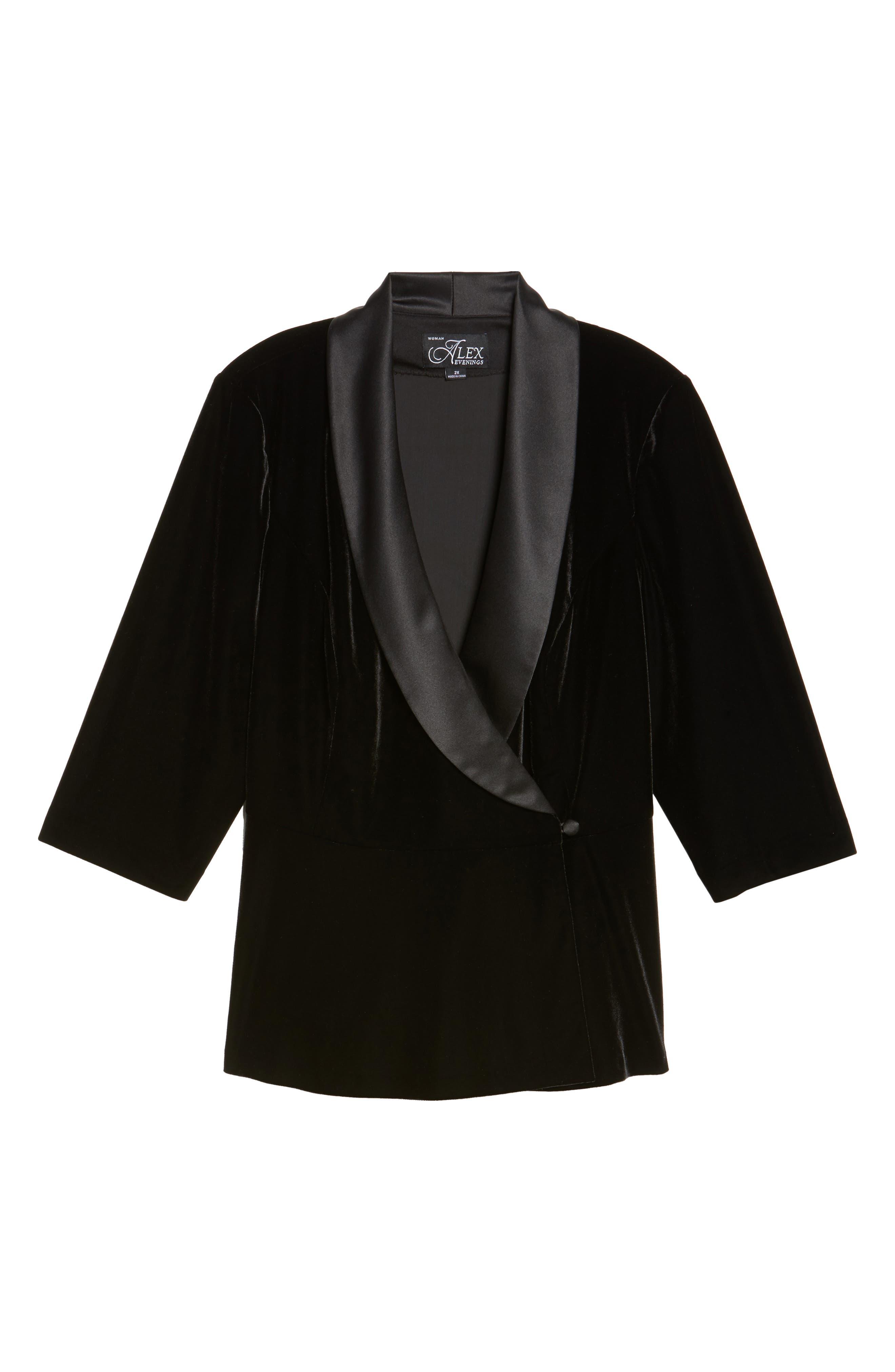 Alternate Image 6  - Alex Evenings Stretch Velvet Blouse (Plus Size)