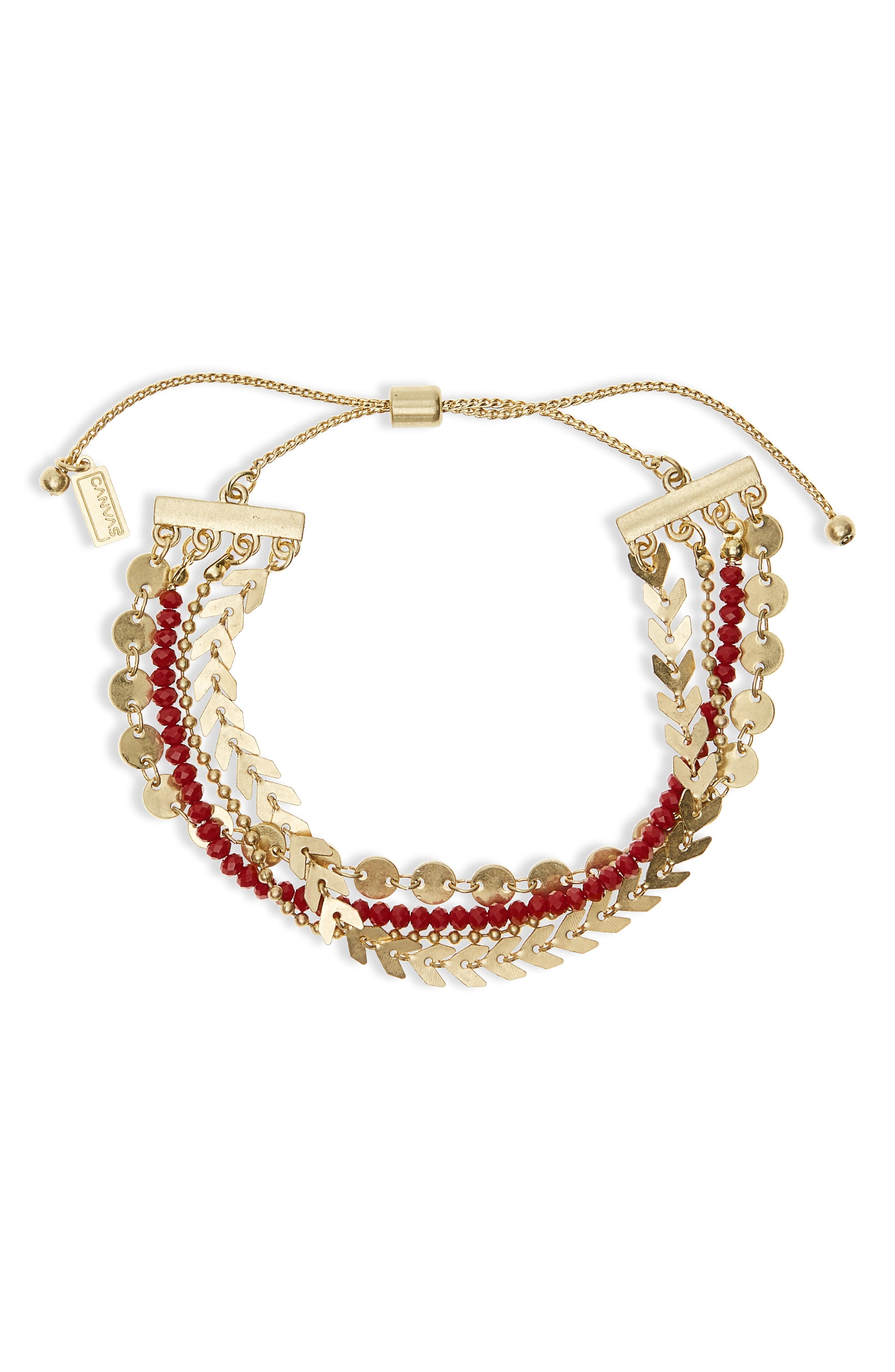 Alternate Image 1 Selected - Canvas Jewelry Beaded Friendship Bracelet