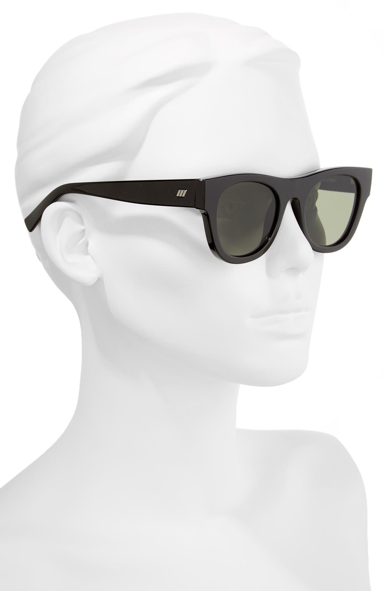 Arcadia 49mm Sunglasses,                             Alternate thumbnail 3, color,                             Black