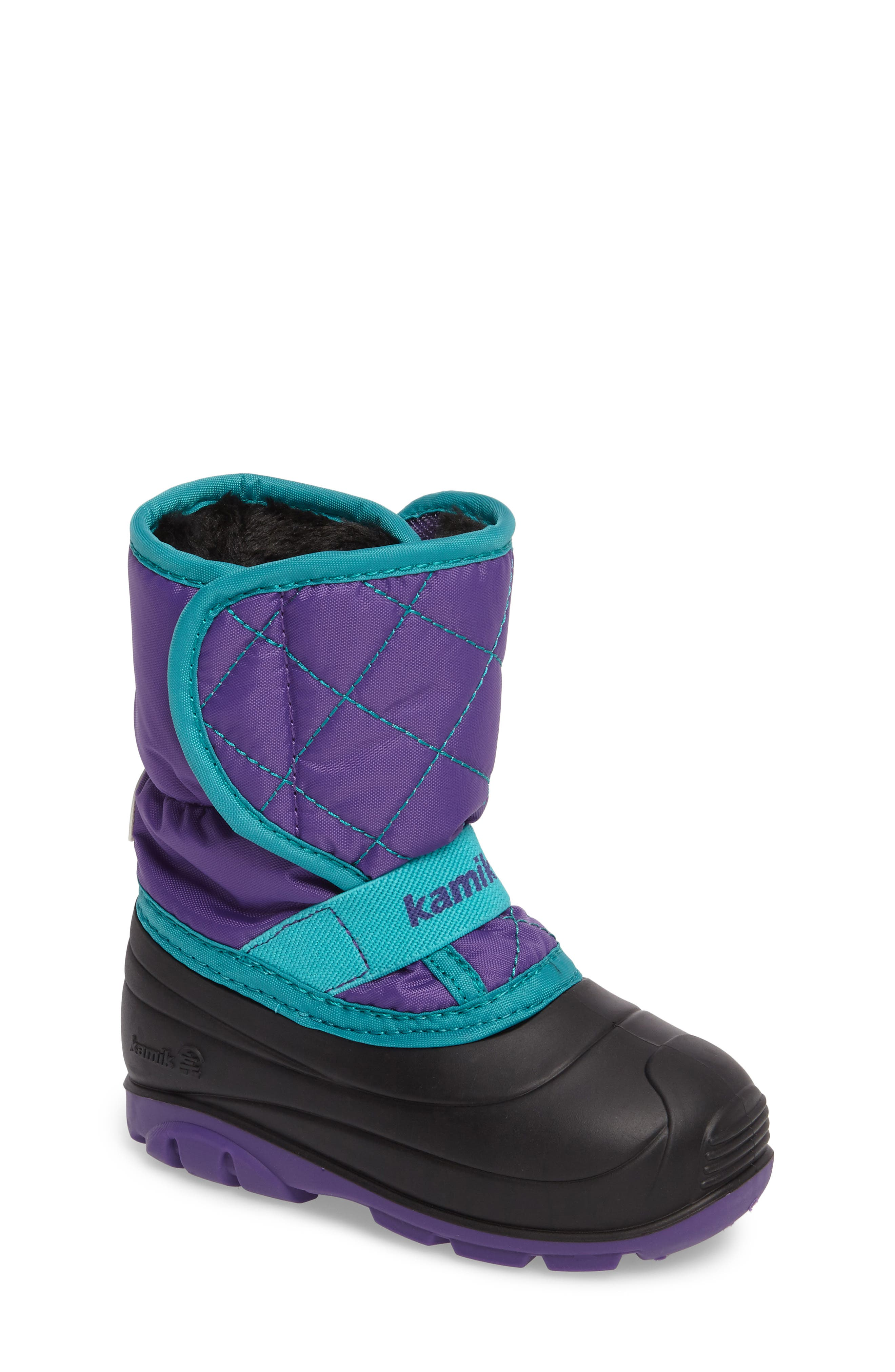 Main Image - Kamik Pika2 Faux Fur Insulated Waterproof Snow Boot (Walker & Toddler)