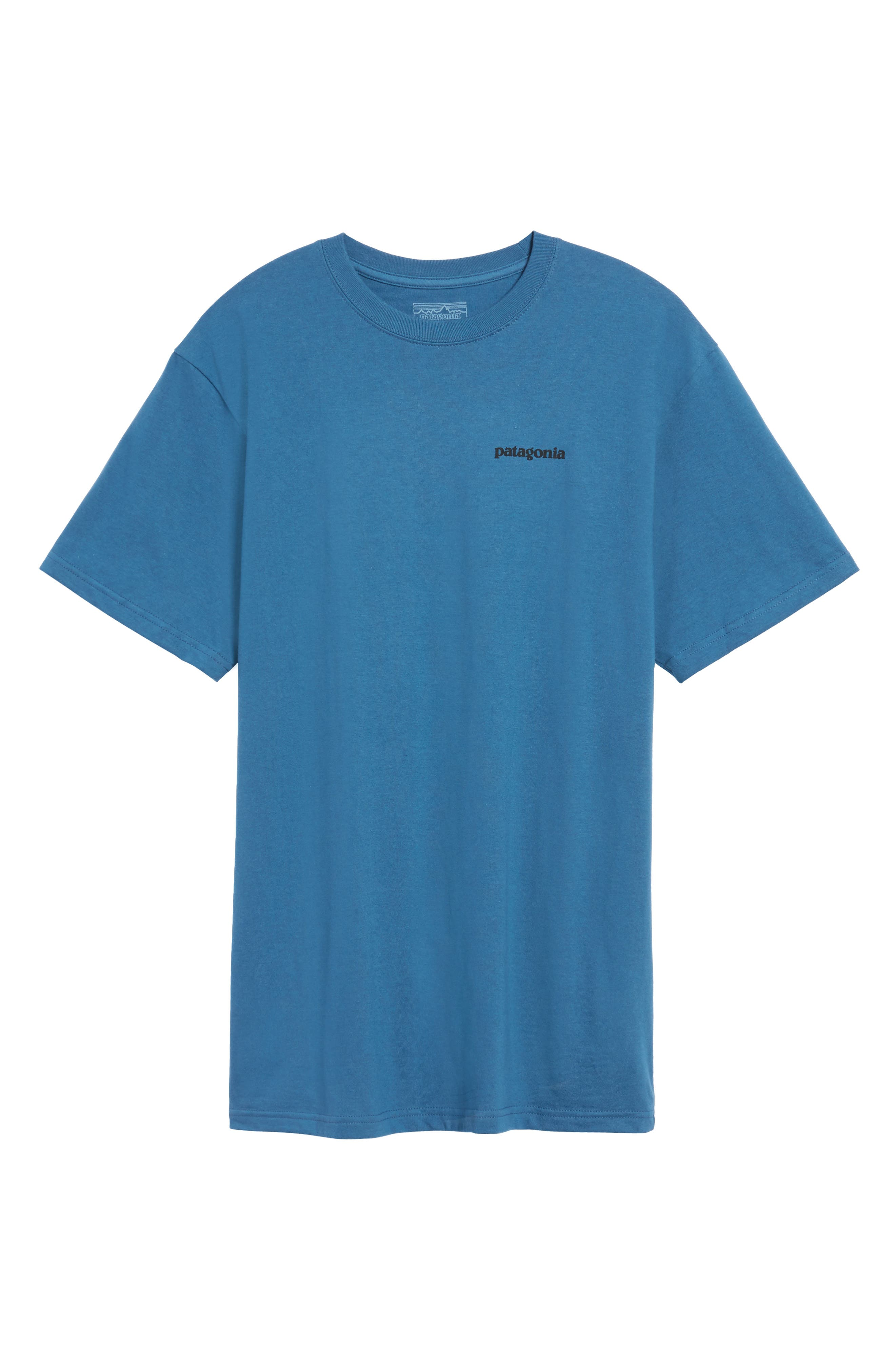 'P-6 Logo' Organic Cotton T-Shirt,                             Alternate thumbnail 7, color,                             Glass Blue