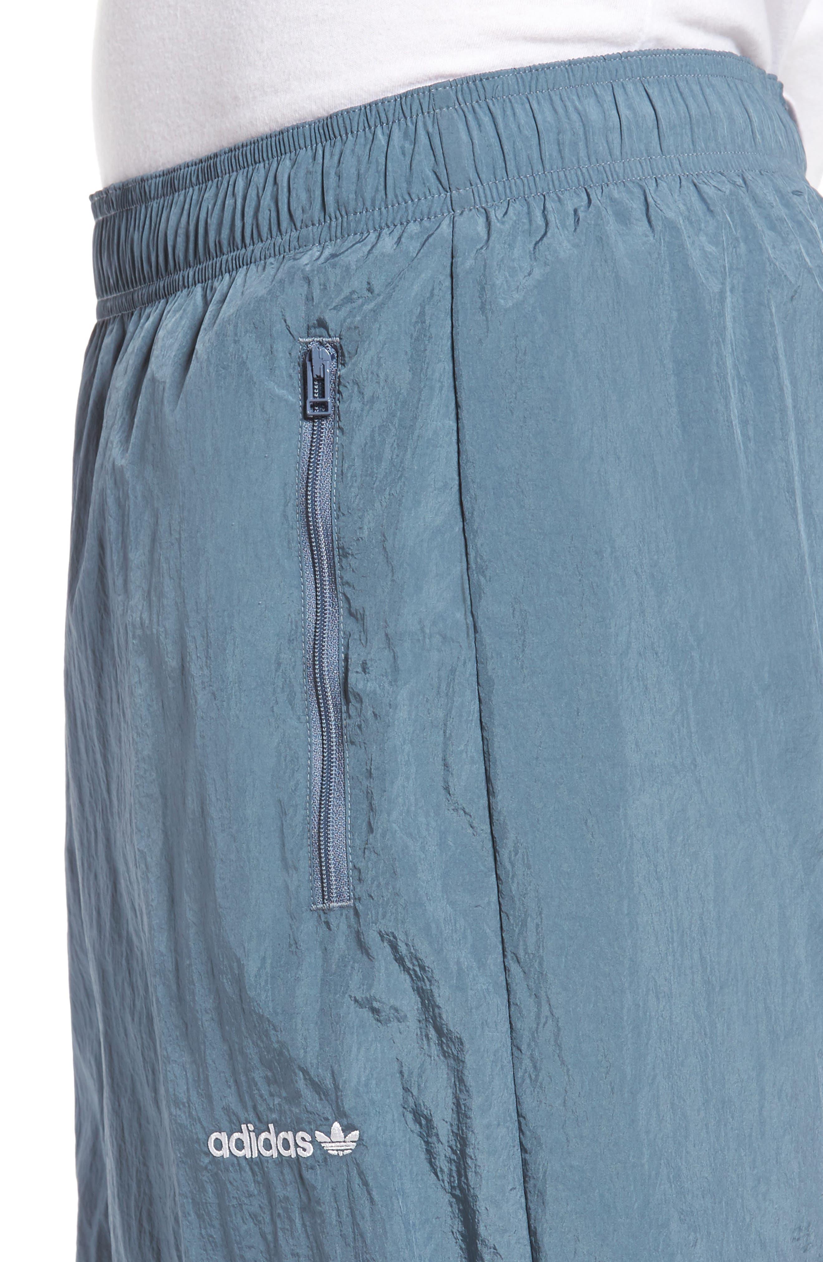 Originals V-Stripe Windpants,                             Alternate thumbnail 4, color,                             Raw Steel/ White