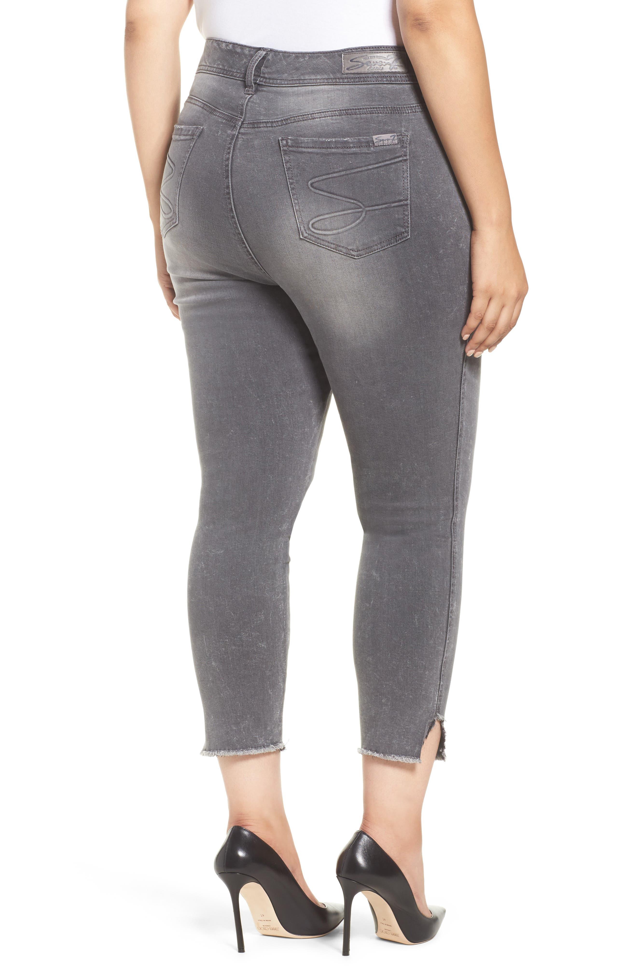 High Waist Ankle Skinny Jeans,                             Alternate thumbnail 2, color,                             Hamilton