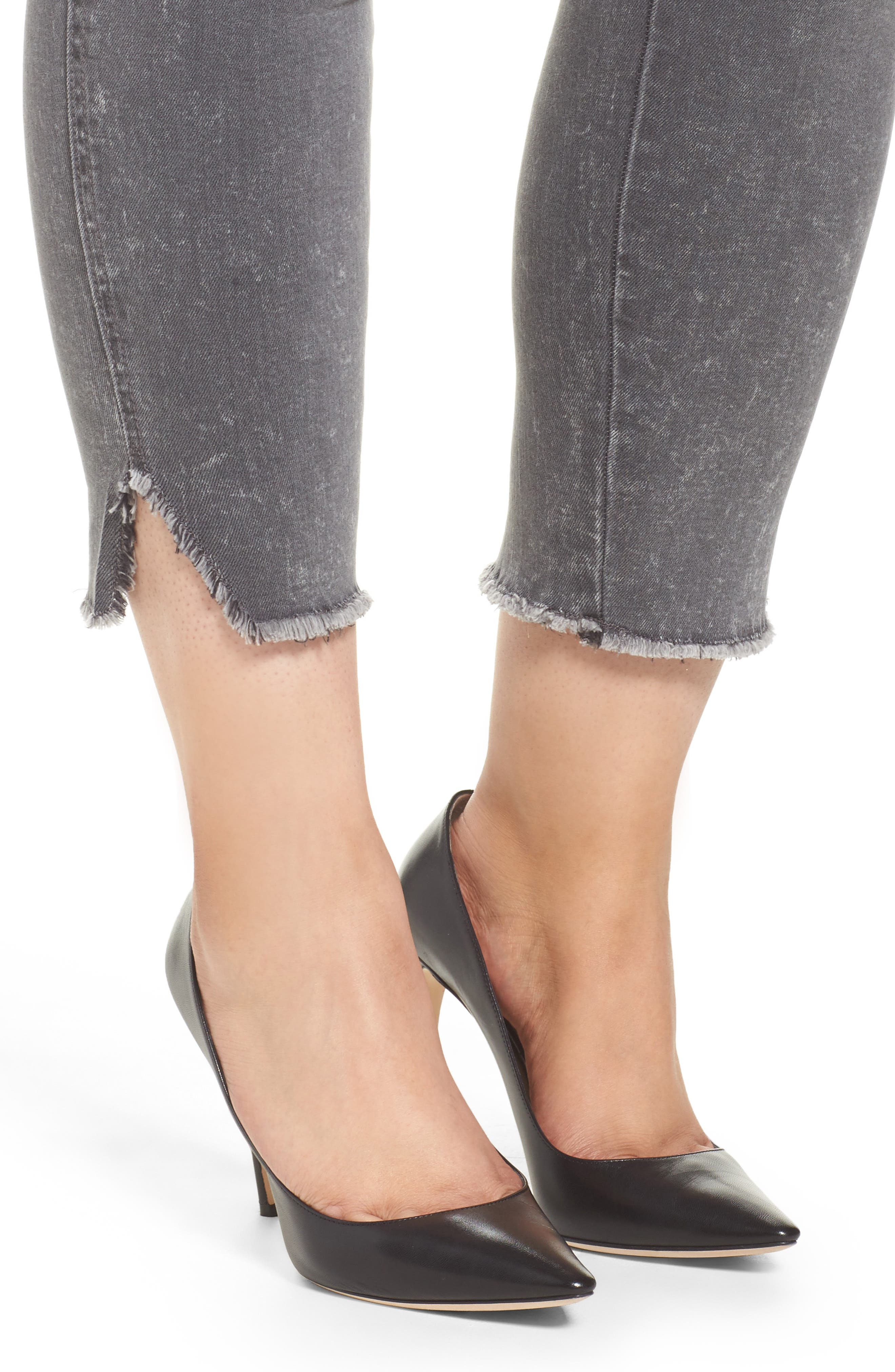 High Waist Ankle Skinny Jeans,                             Alternate thumbnail 4, color,                             Hamilton