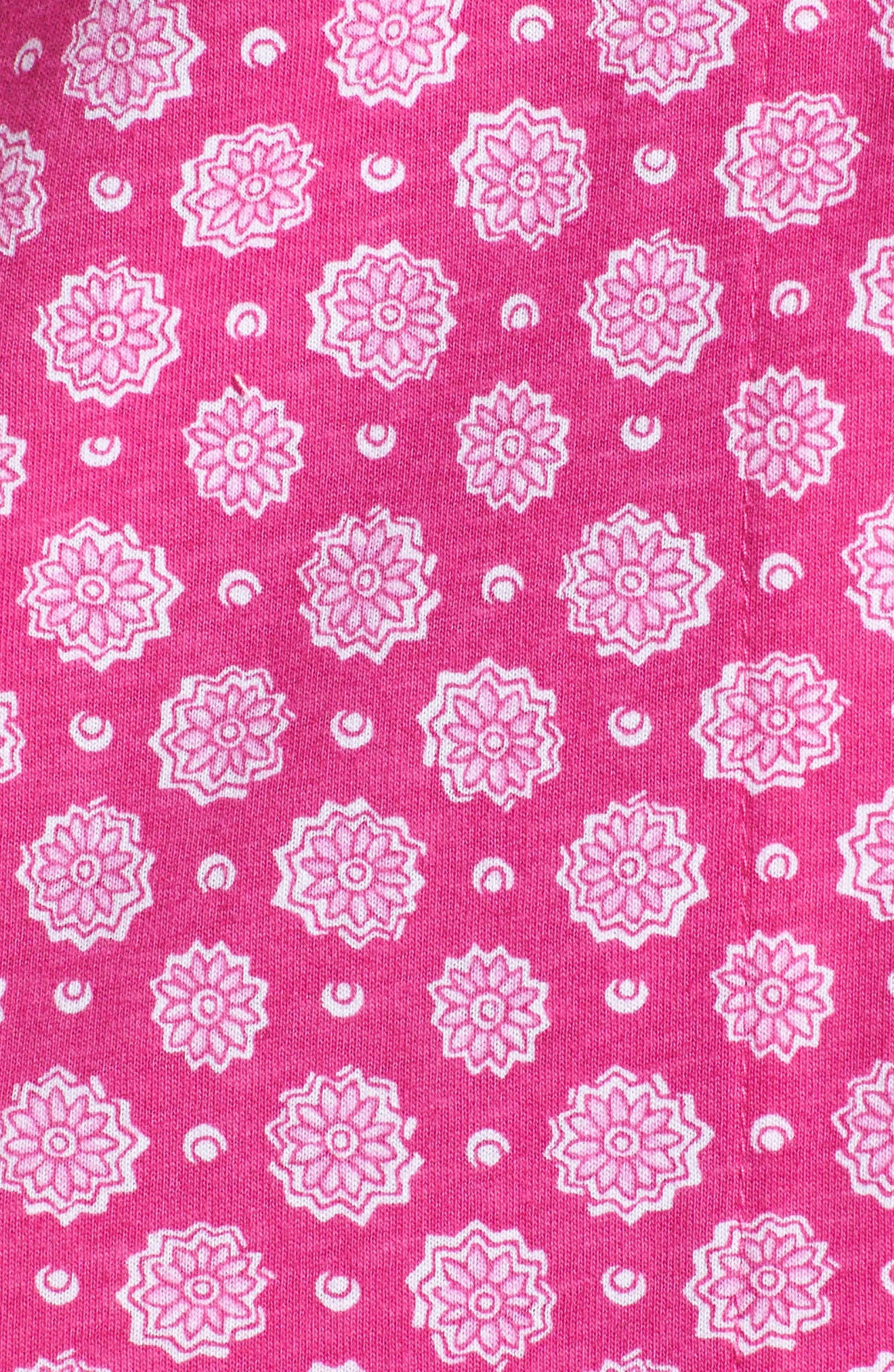 Notch Collar Pajamas,                             Alternate thumbnail 5, color,                             Pink Floral