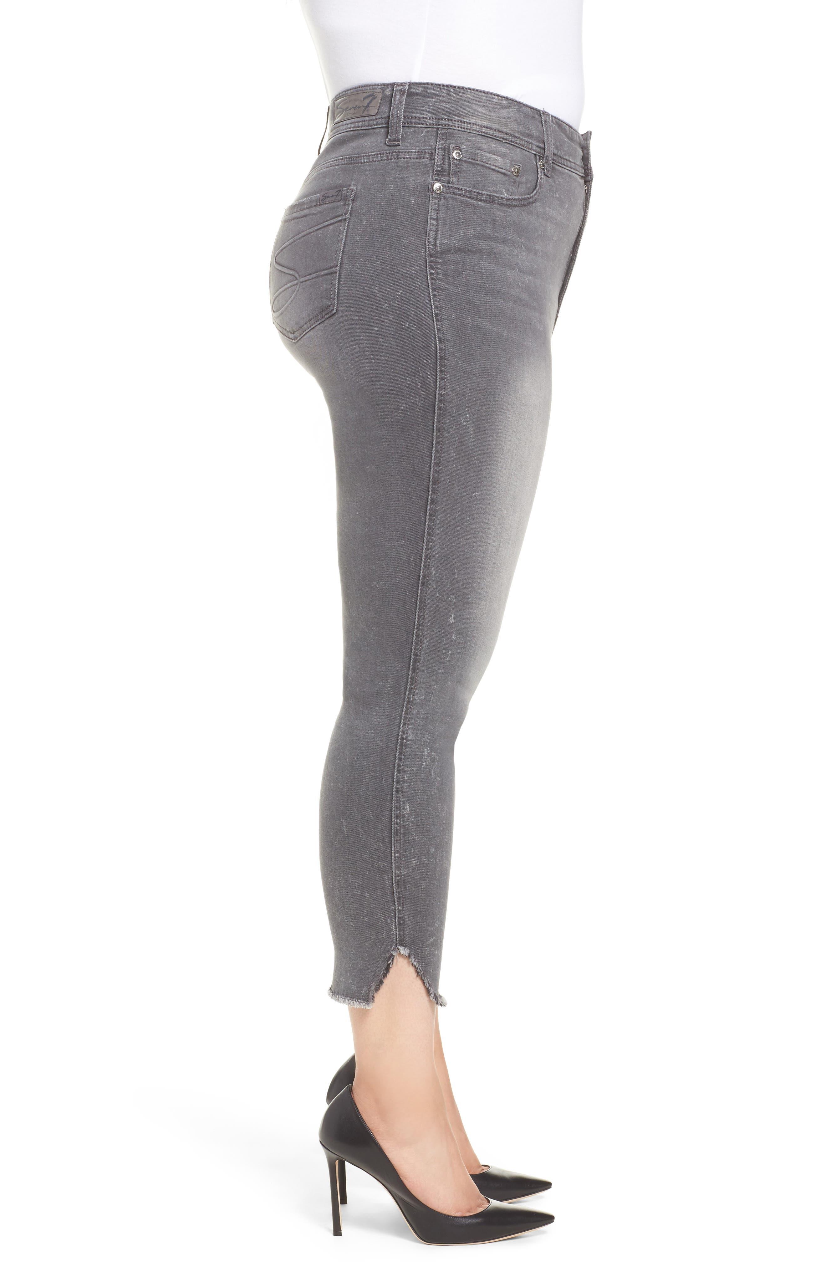 High Waist Ankle Skinny Jeans,                             Alternate thumbnail 3, color,                             Hamilton