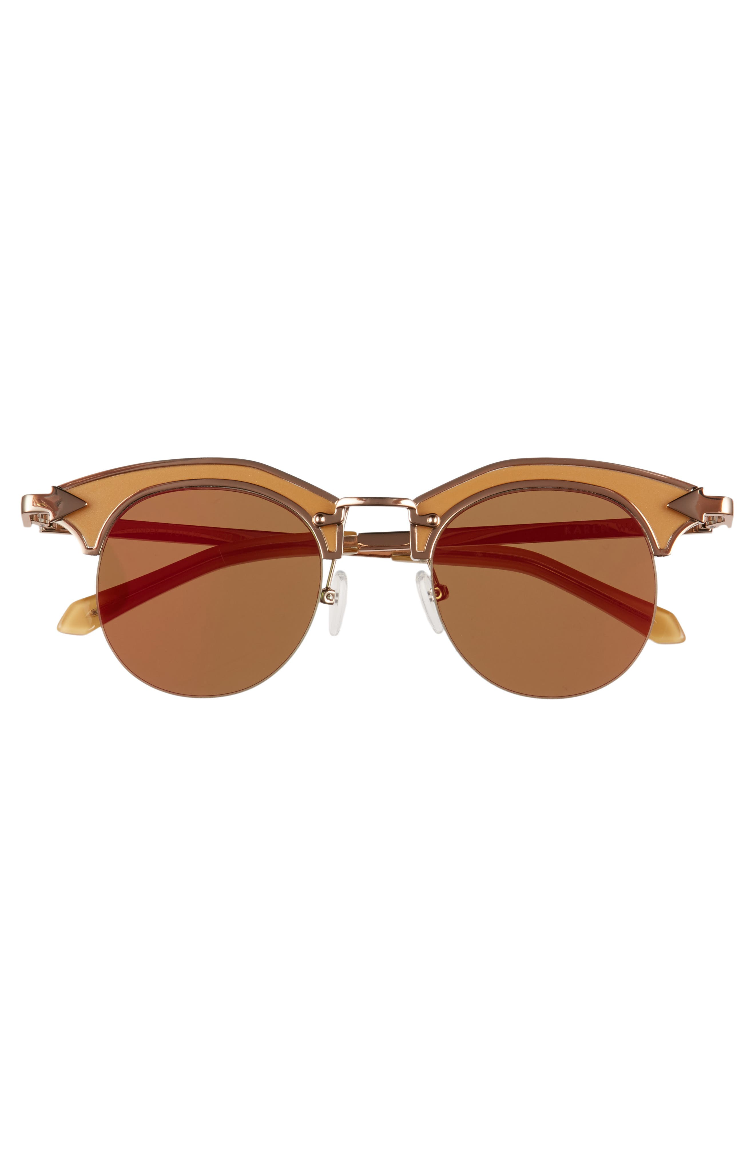 Buccaneer 47mm Round Sunglasses,                             Alternate thumbnail 3, color,                             Tan