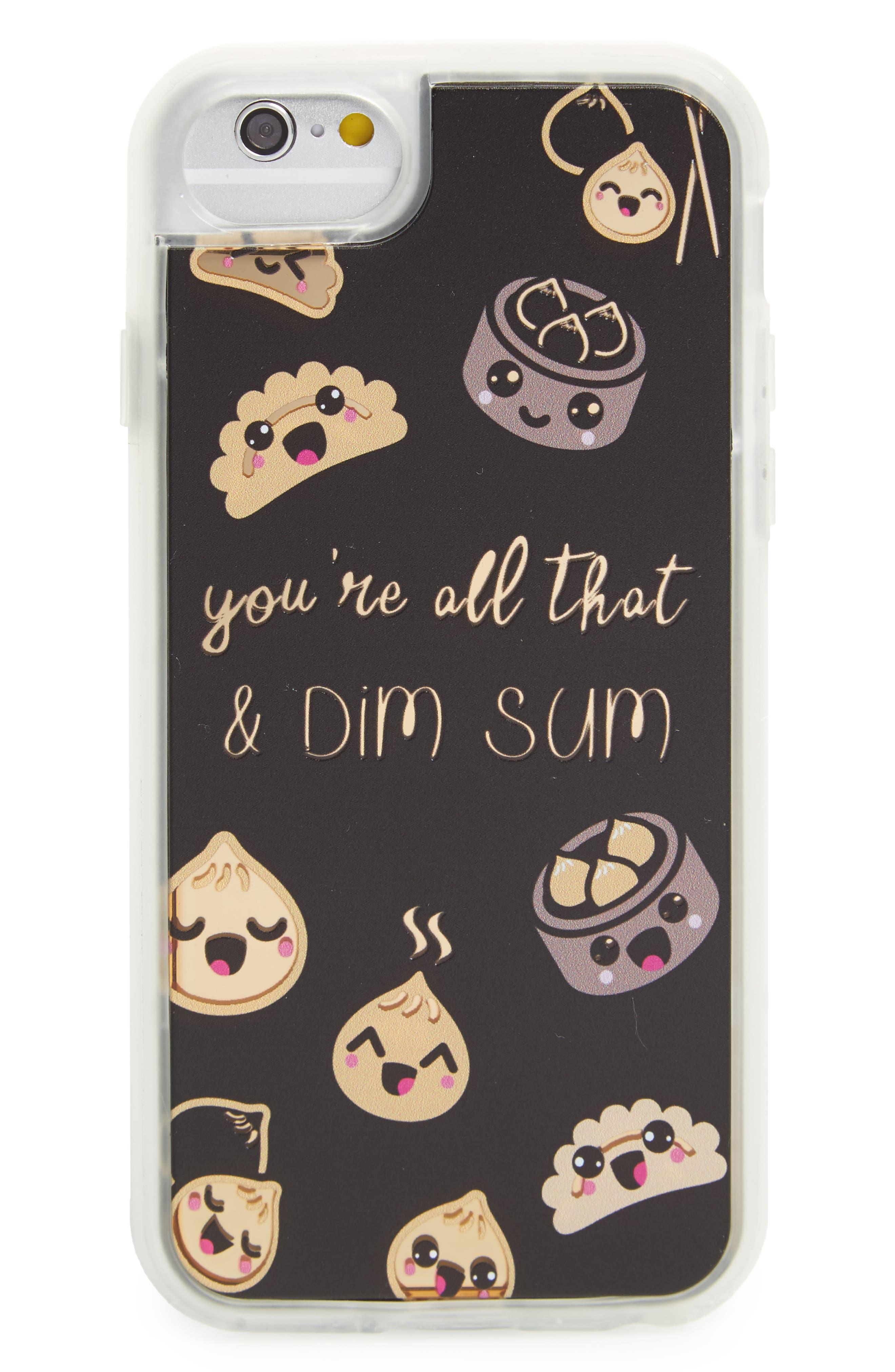 Dim Sum iPhone 6/6s/7 Case,                         Main,                         color, Black / Gold