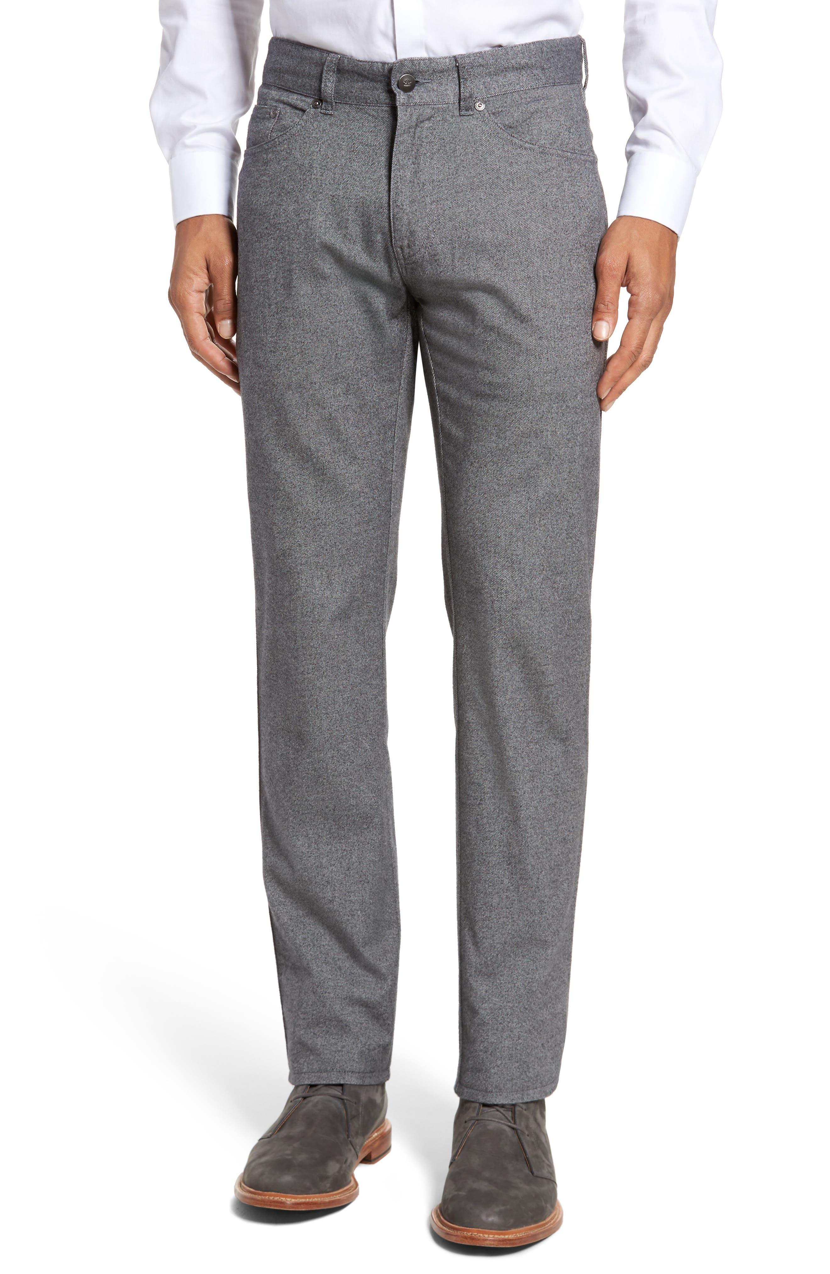 Main Image - Peter Millar Mountainside Flannel Five-Pocket Pants