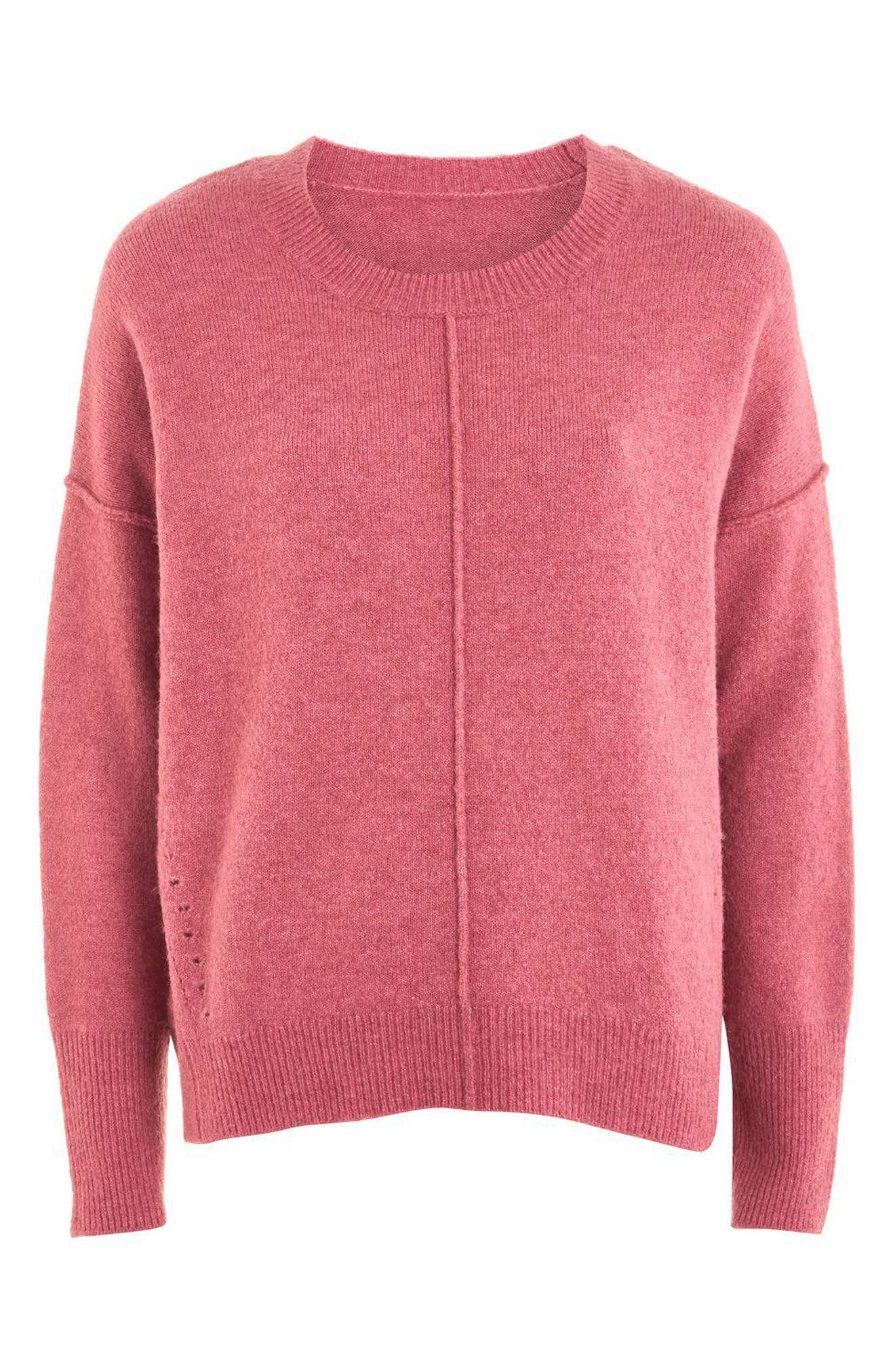 Alternate Image 5  - Topshop Pointelle Detail Sweater