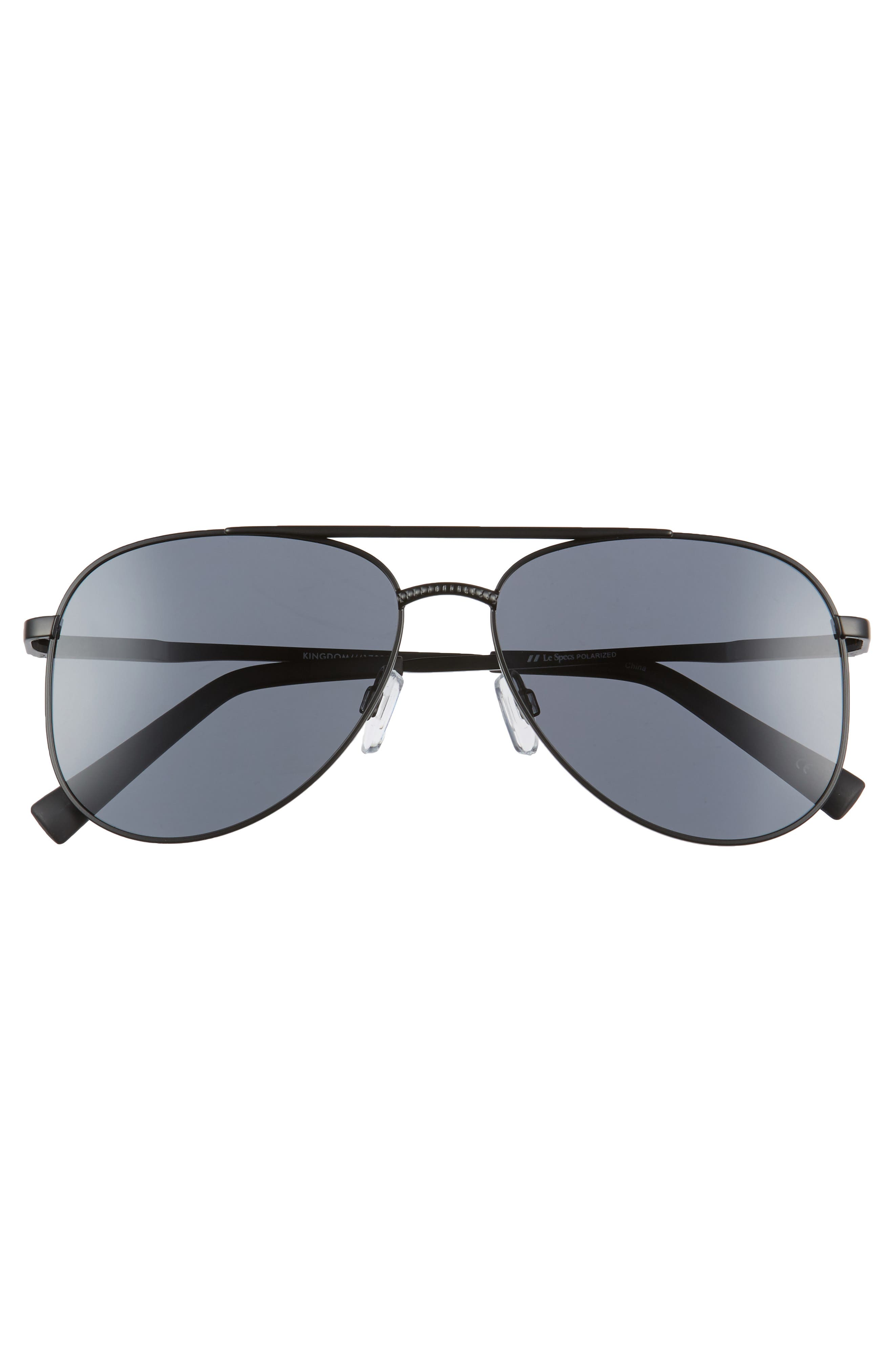 Alternate Image 3  - Le Specs Kingdom 57mm Polarized Aviator Sunglasses
