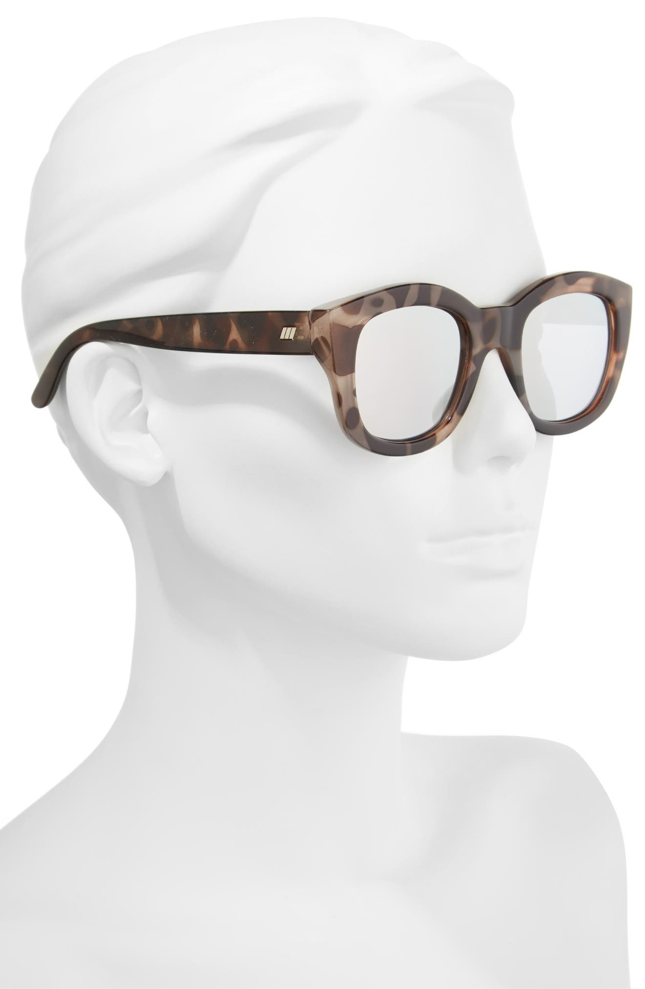 Alternate Image 3  - Le Specs Runaways 48mm Rectangular Sunglasses