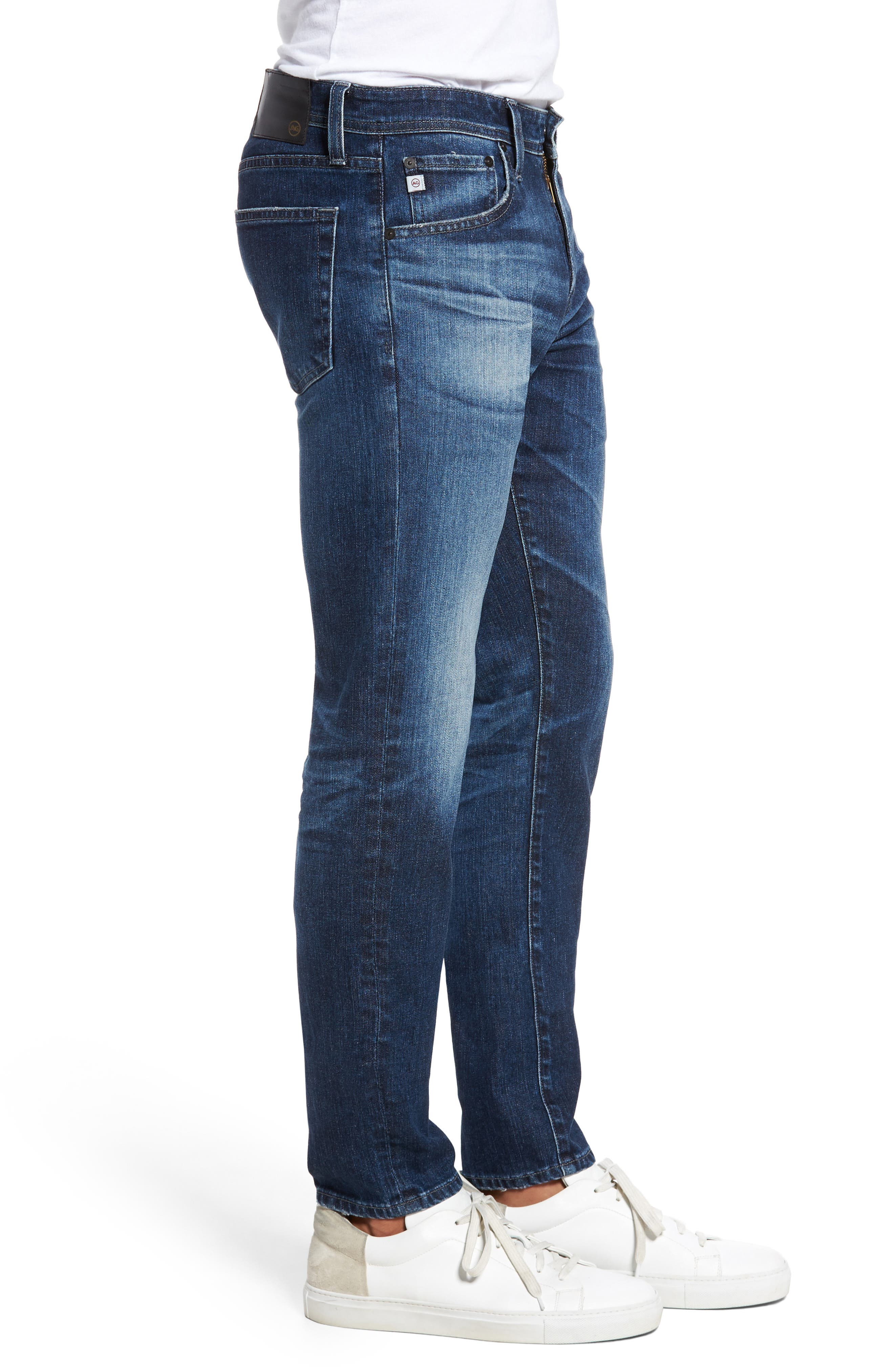 Stockton Skinny Fit Jeans,                             Alternate thumbnail 3, color,                             7 Years Blue Spire
