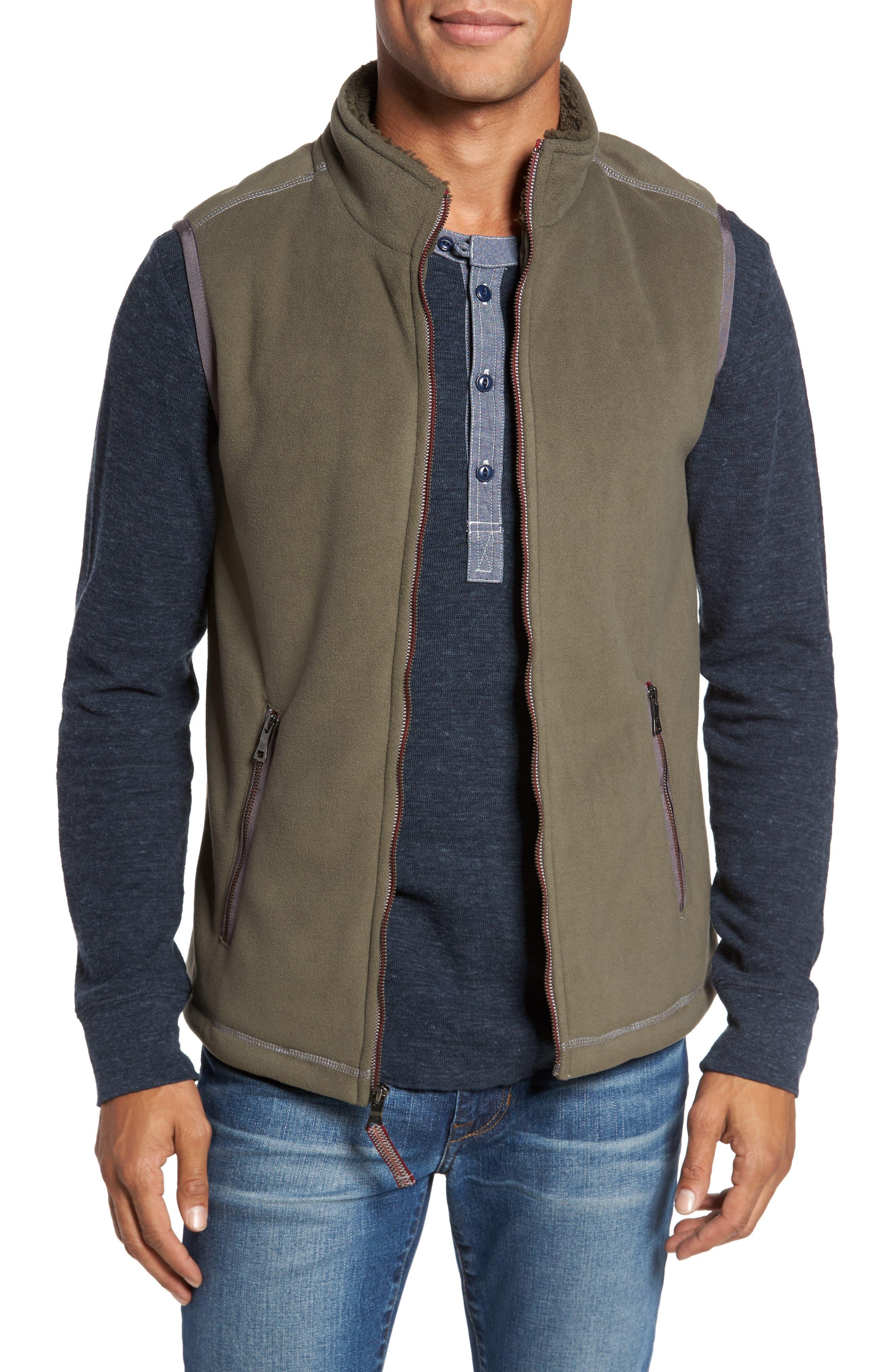 True Grit Bonded Fleece Zip Front Vest