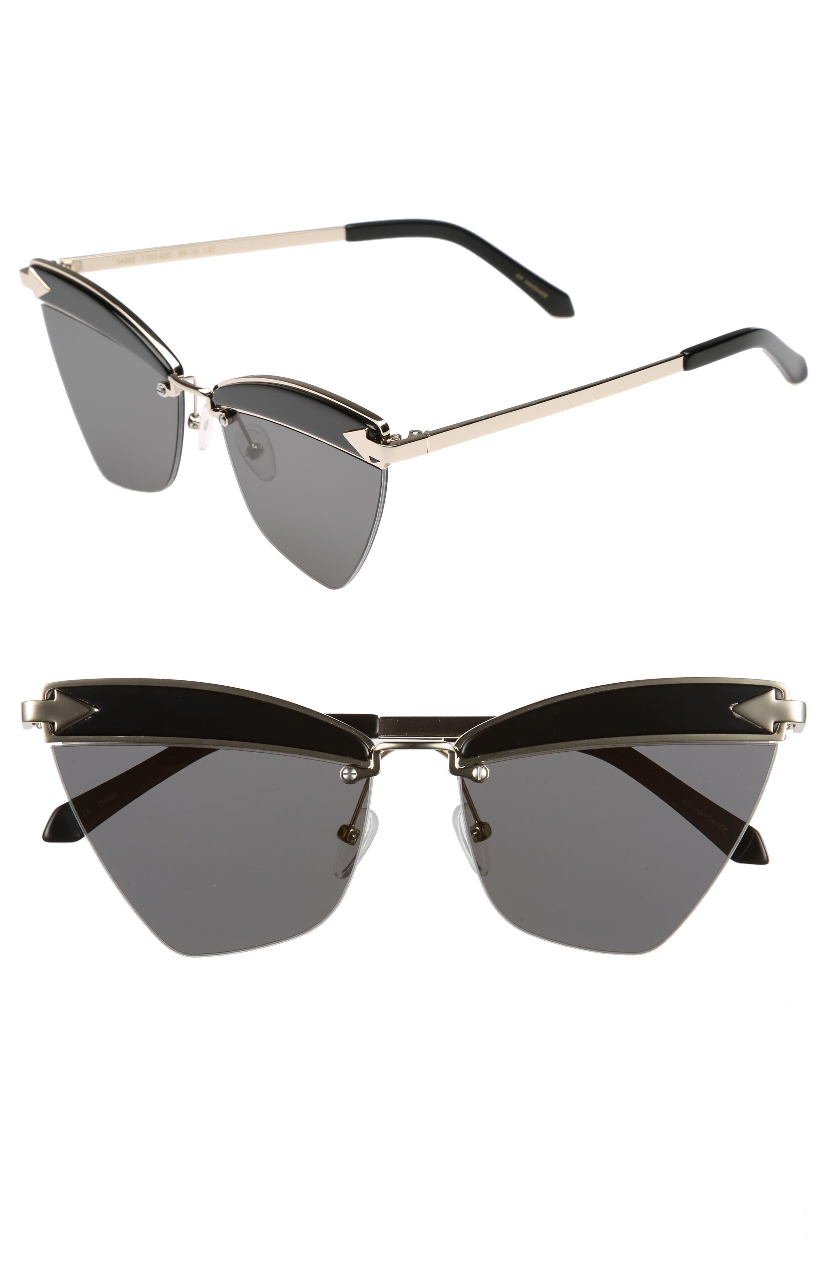Sadie 59mm Sunglasses,                             Main thumbnail 1, color,                             Black