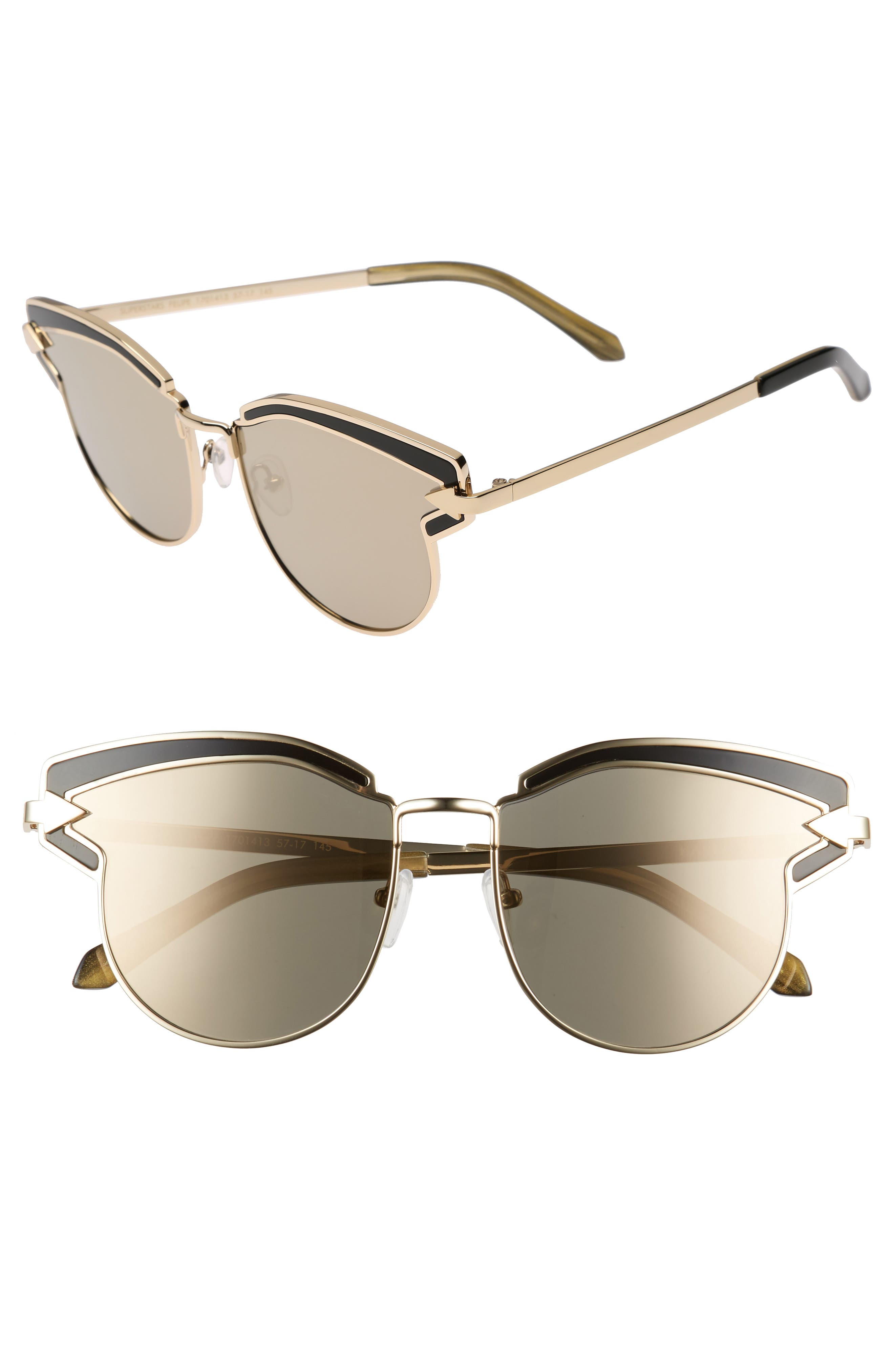 Karen Walker Superstars - Felipe 57mm Sunglasses