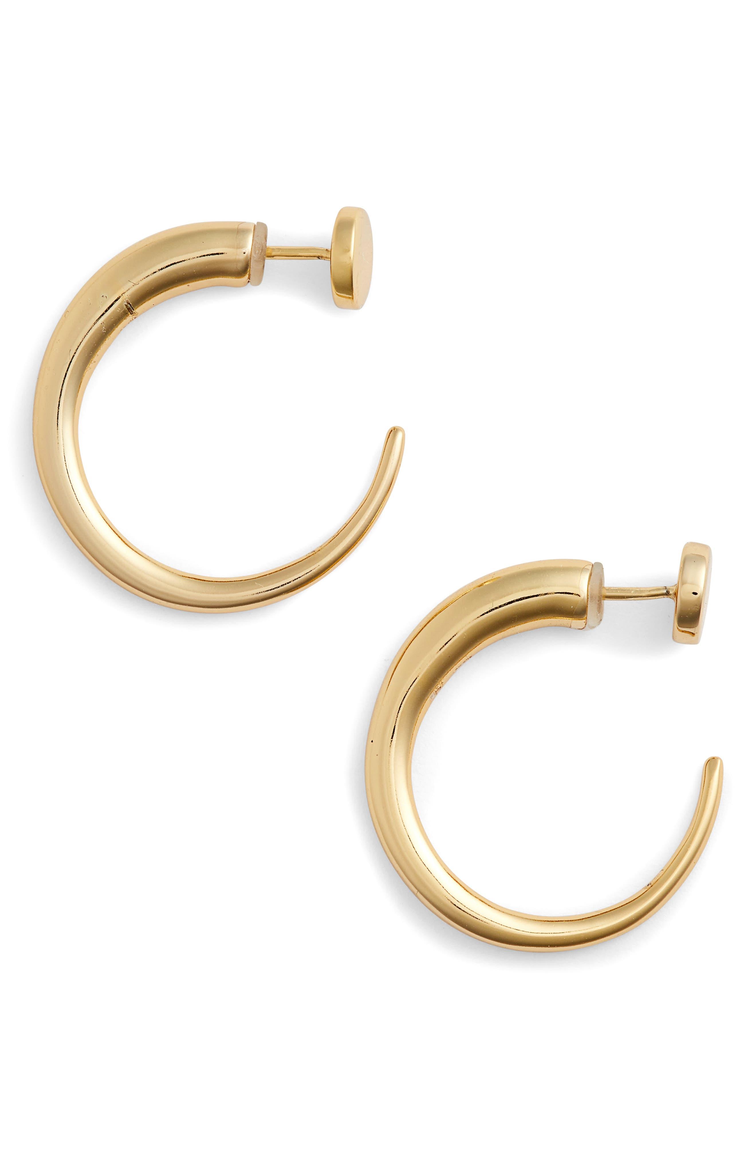 Yari Hoop Earrings,                         Main,                         color, Gold