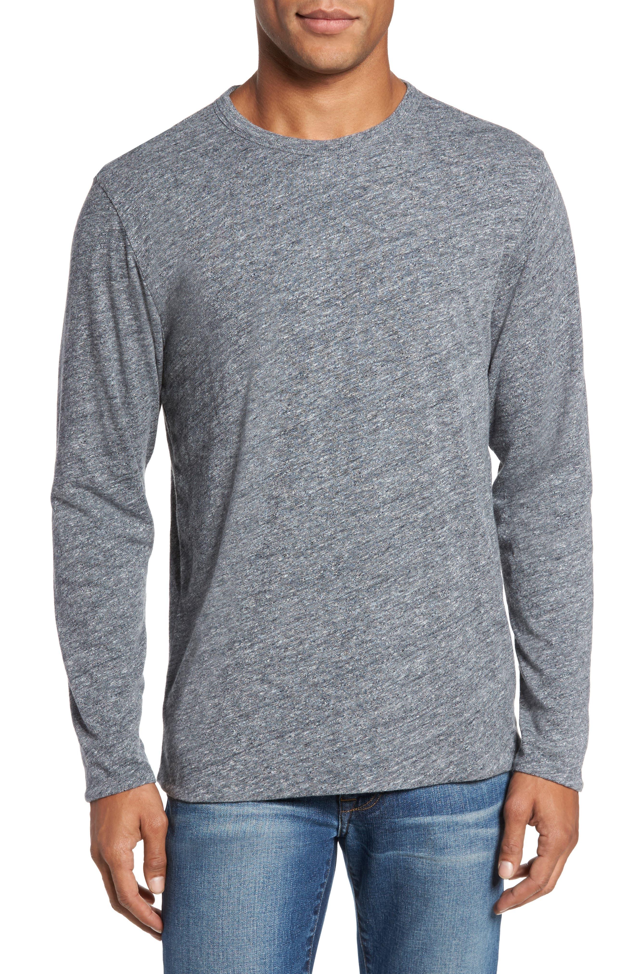 Faherty Reversible Long Sleeve Crewneck T-Shirt