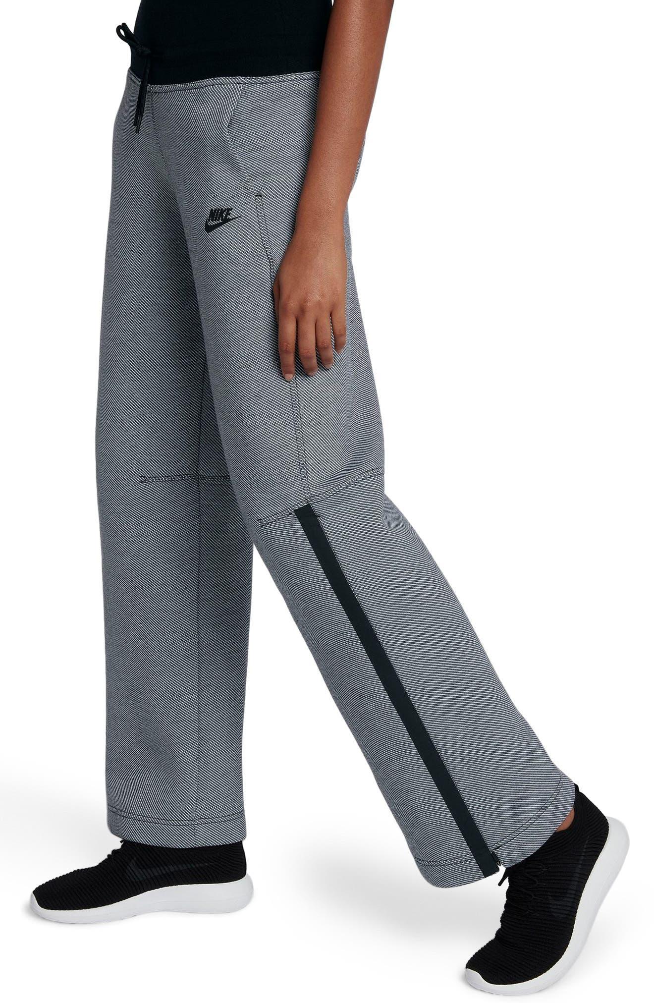 Drawstring Technical Pants,                             Alternate thumbnail 7, color,                             Black/ Black