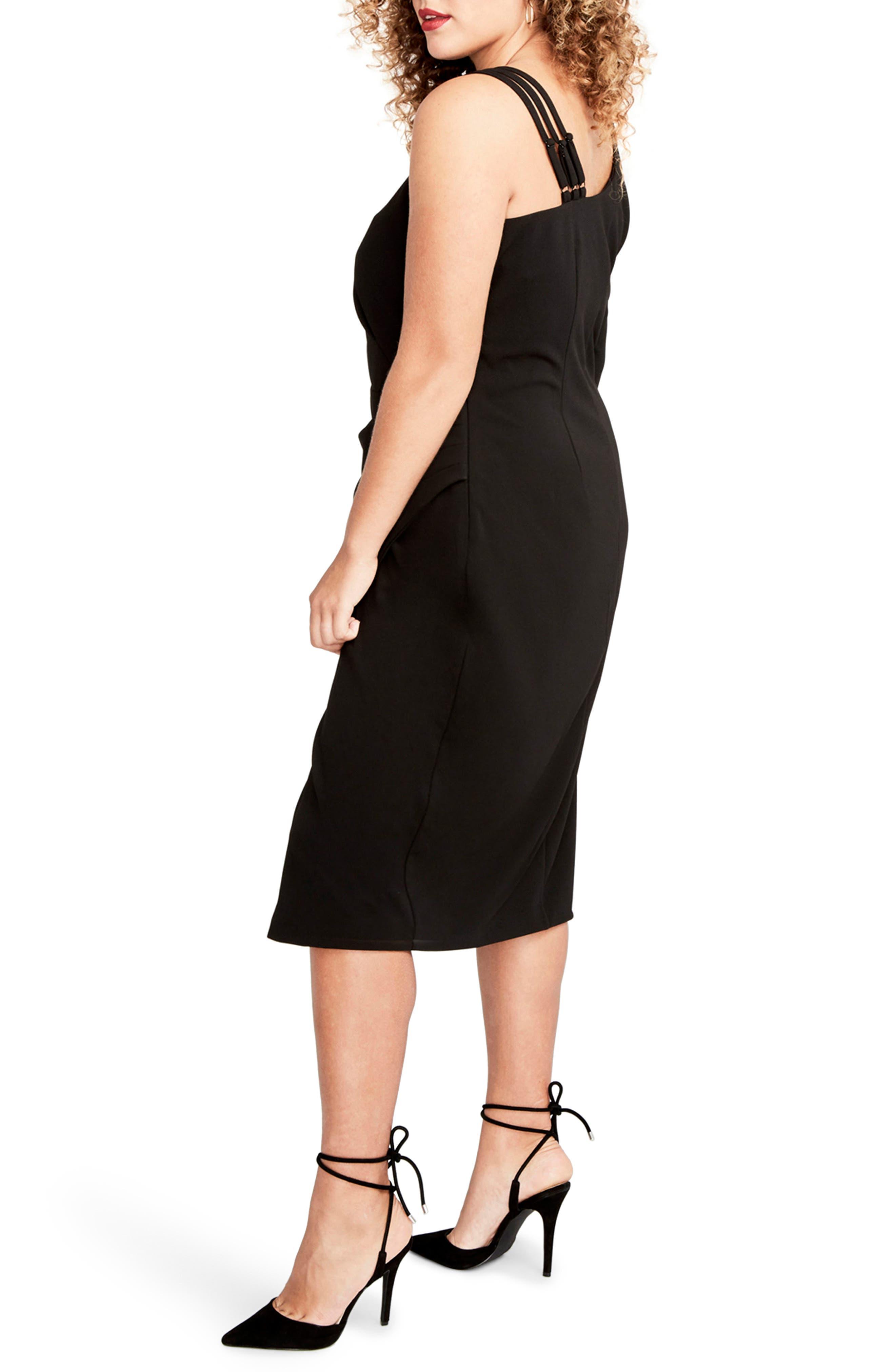 Alternate Image 3  - RACHEL Rachel Roy Asymmetrical Faux Wrap Dress (Plus Size)