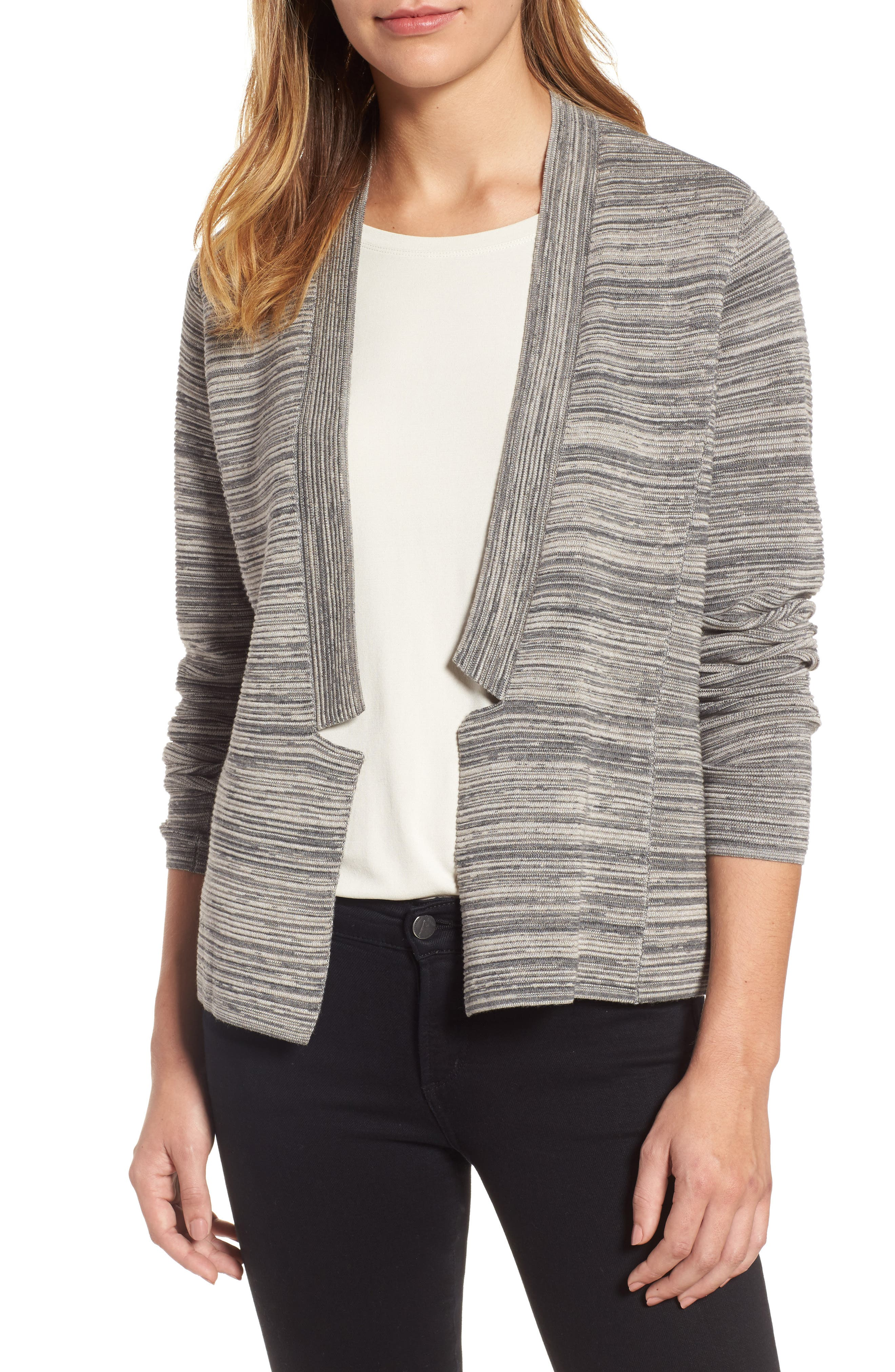 Main Image - Eileen Fisher Tencel® & Organic Cotton Cardigan (Regular & Petite)
