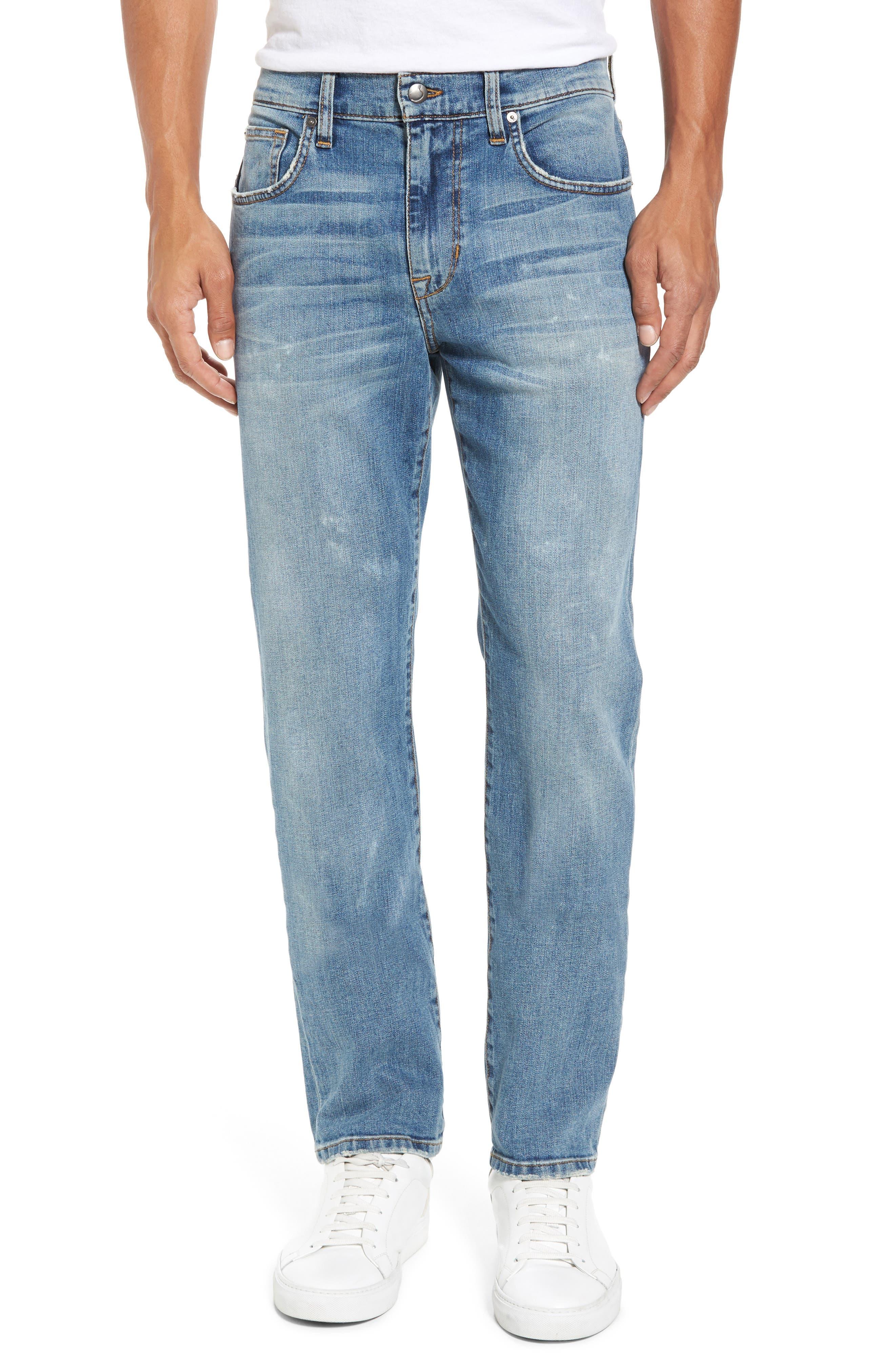 Brixton Slim Straight Fit Jeans,                             Main thumbnail 1, color,                             Wyman
