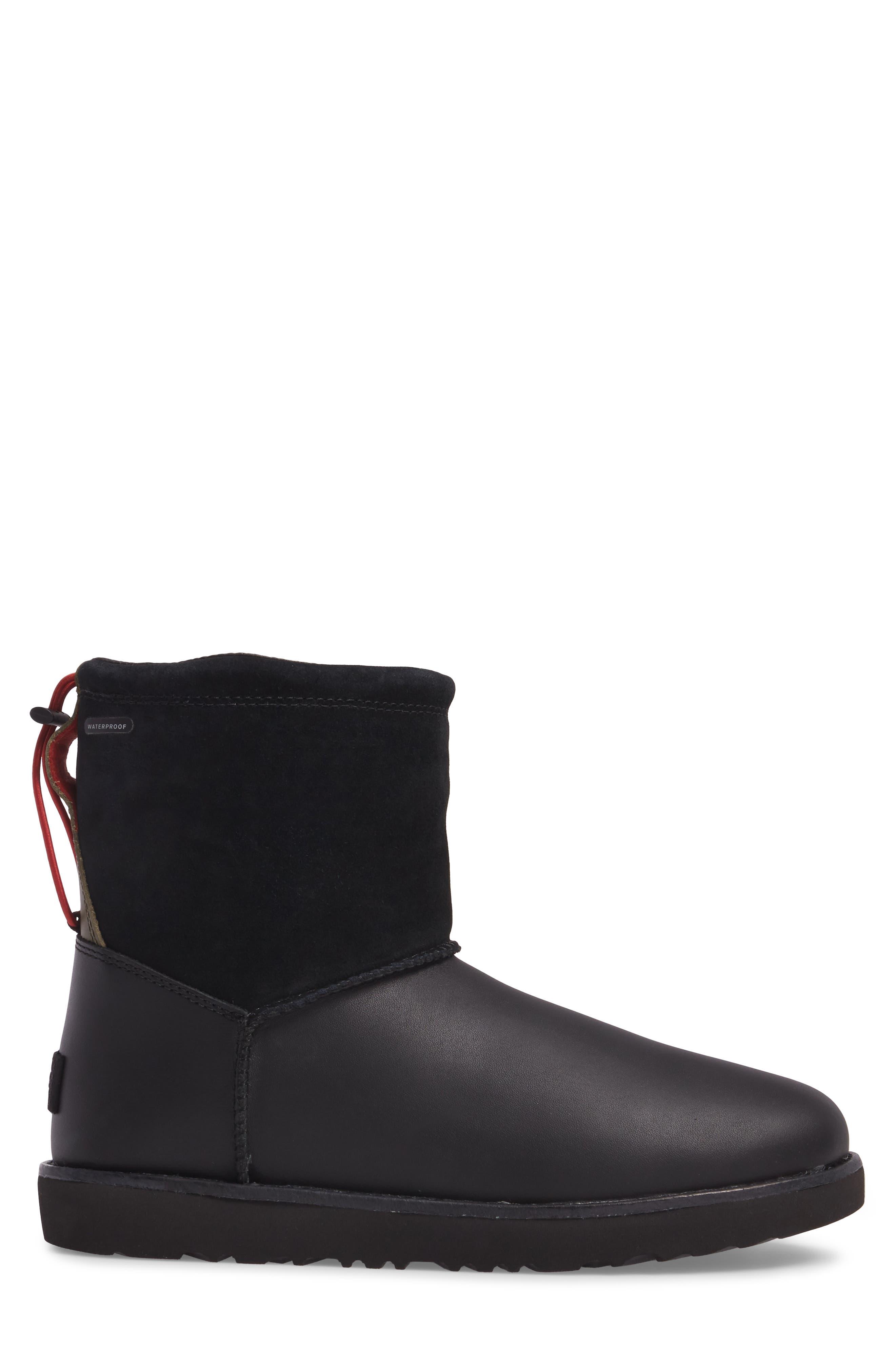 Classic Waterproof Boot,                             Alternate thumbnail 3, color,                             Black