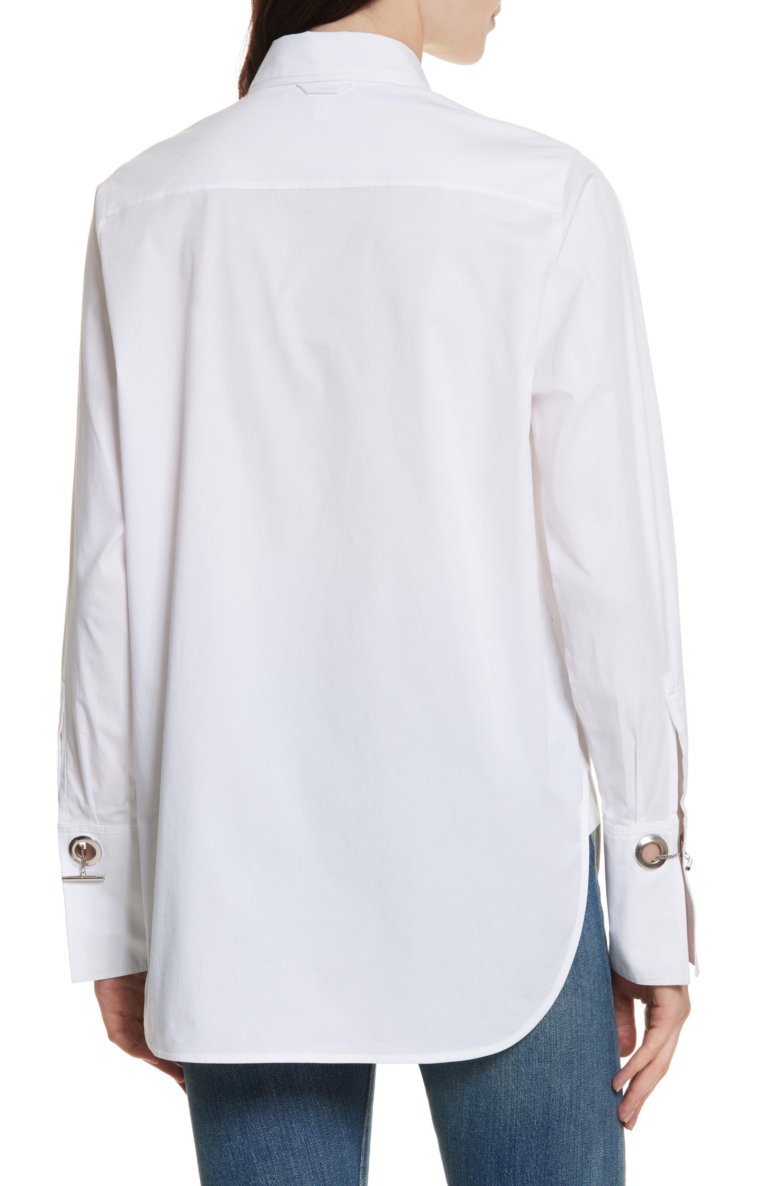 Jasper Stretch Poplin Shirt,                             Alternate thumbnail 2, color,                             White