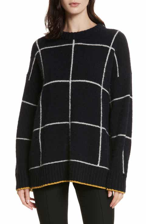 Elizabeth and James Fionn Windowpane Oversized Sweater