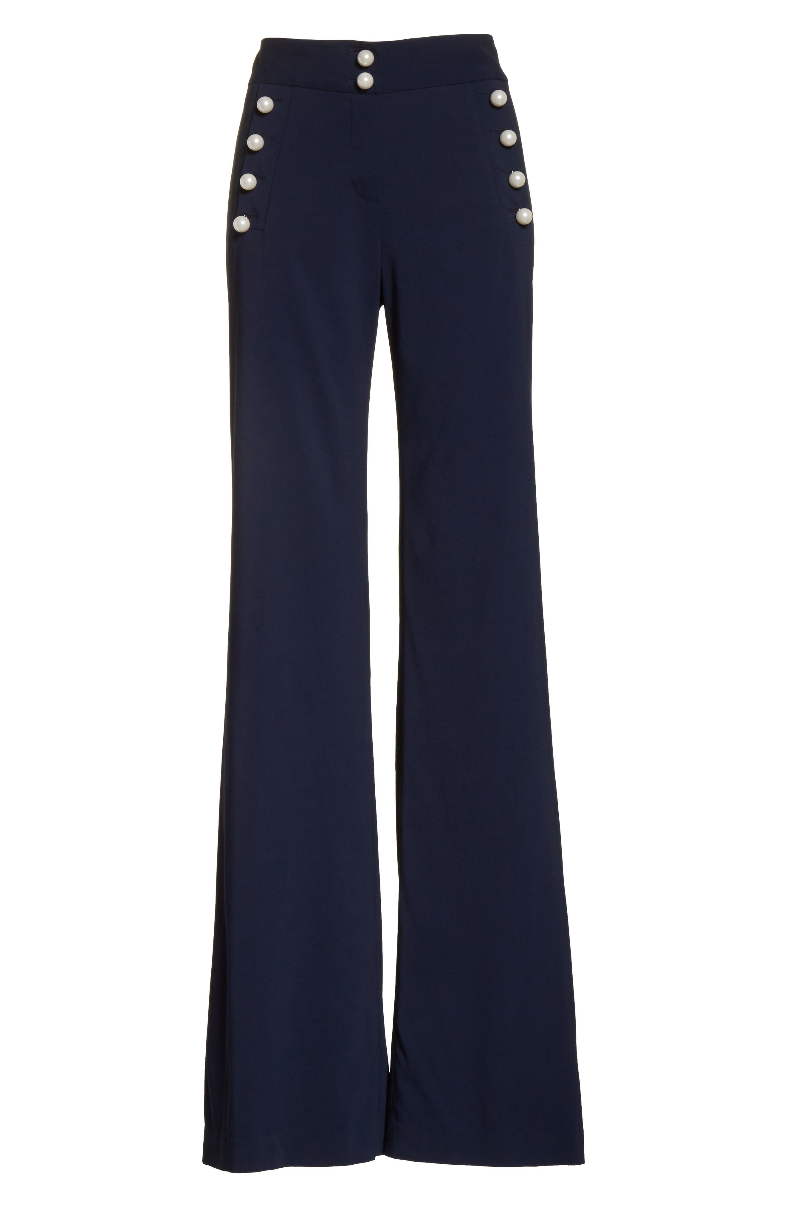 Adley Sailor Pants,                             Alternate thumbnail 7, color,                             Navy