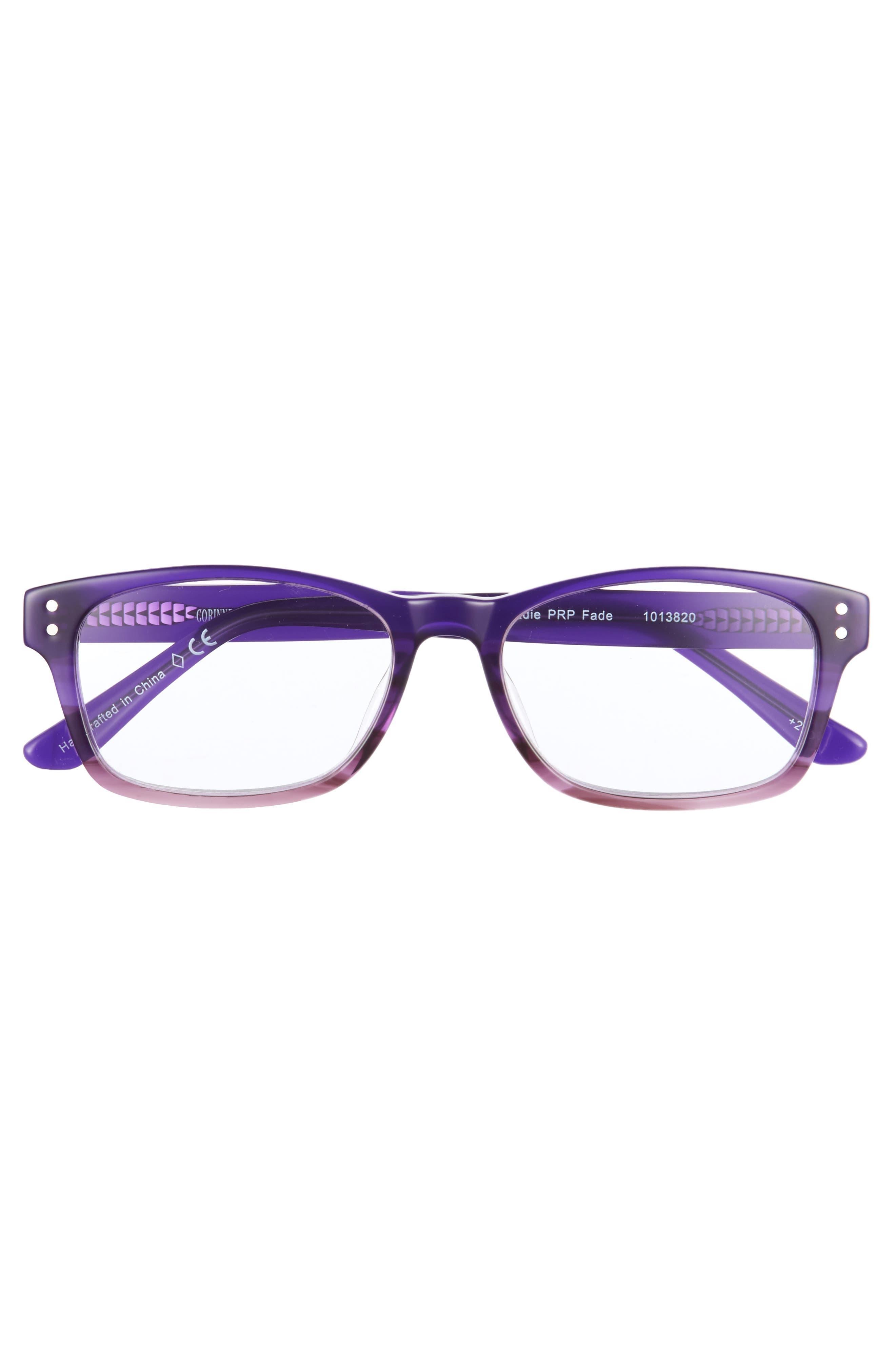 Edie 50mm Reading Glasses,                             Alternate thumbnail 3, color,                             Purple