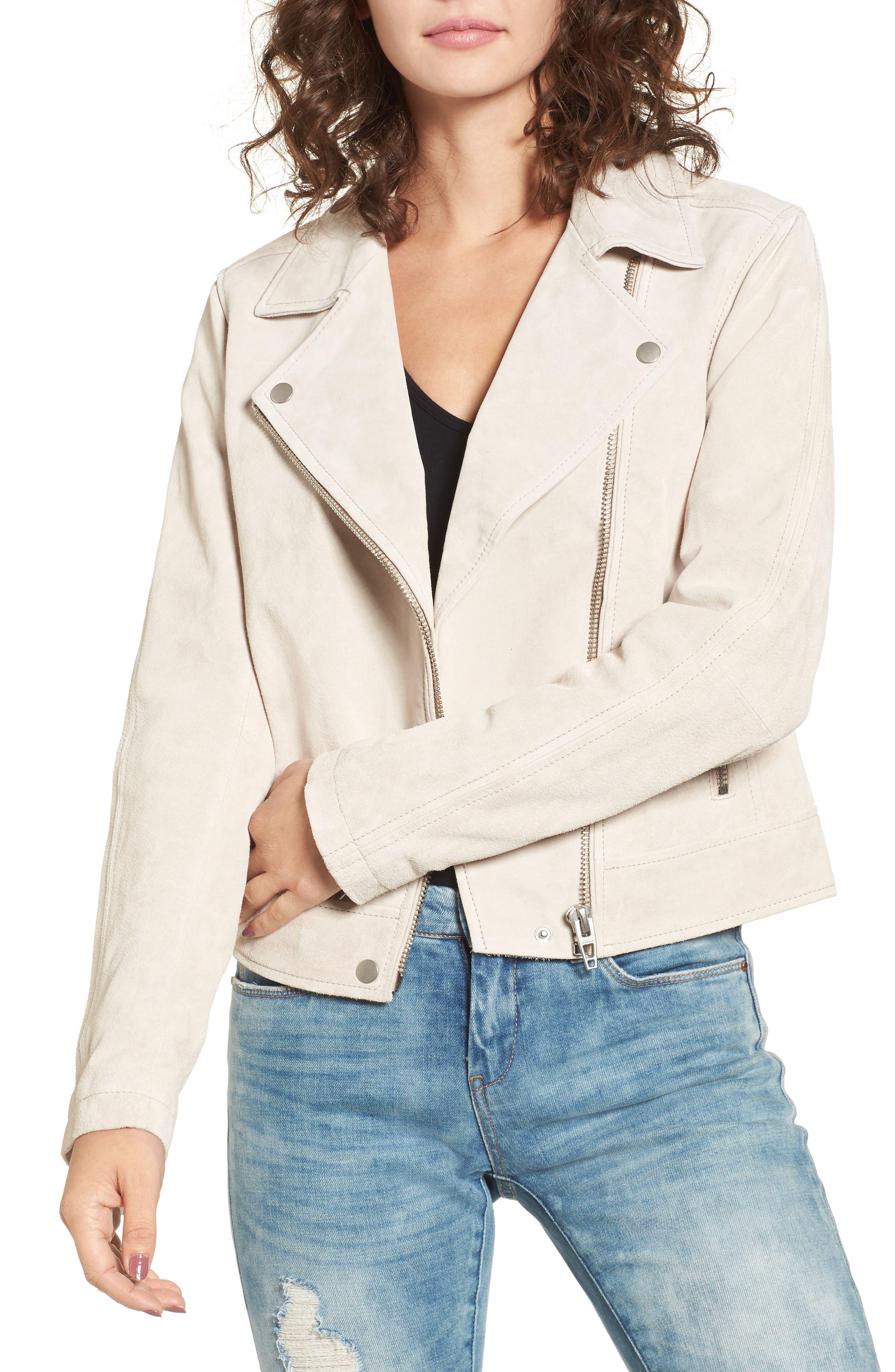 Main Image - BLANKNYC Suede Moto Jacket